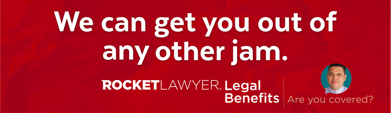 A freeway billboard that ran in san francisco for rocket lawyer. - a popular online resource for people with legal issues and needs.