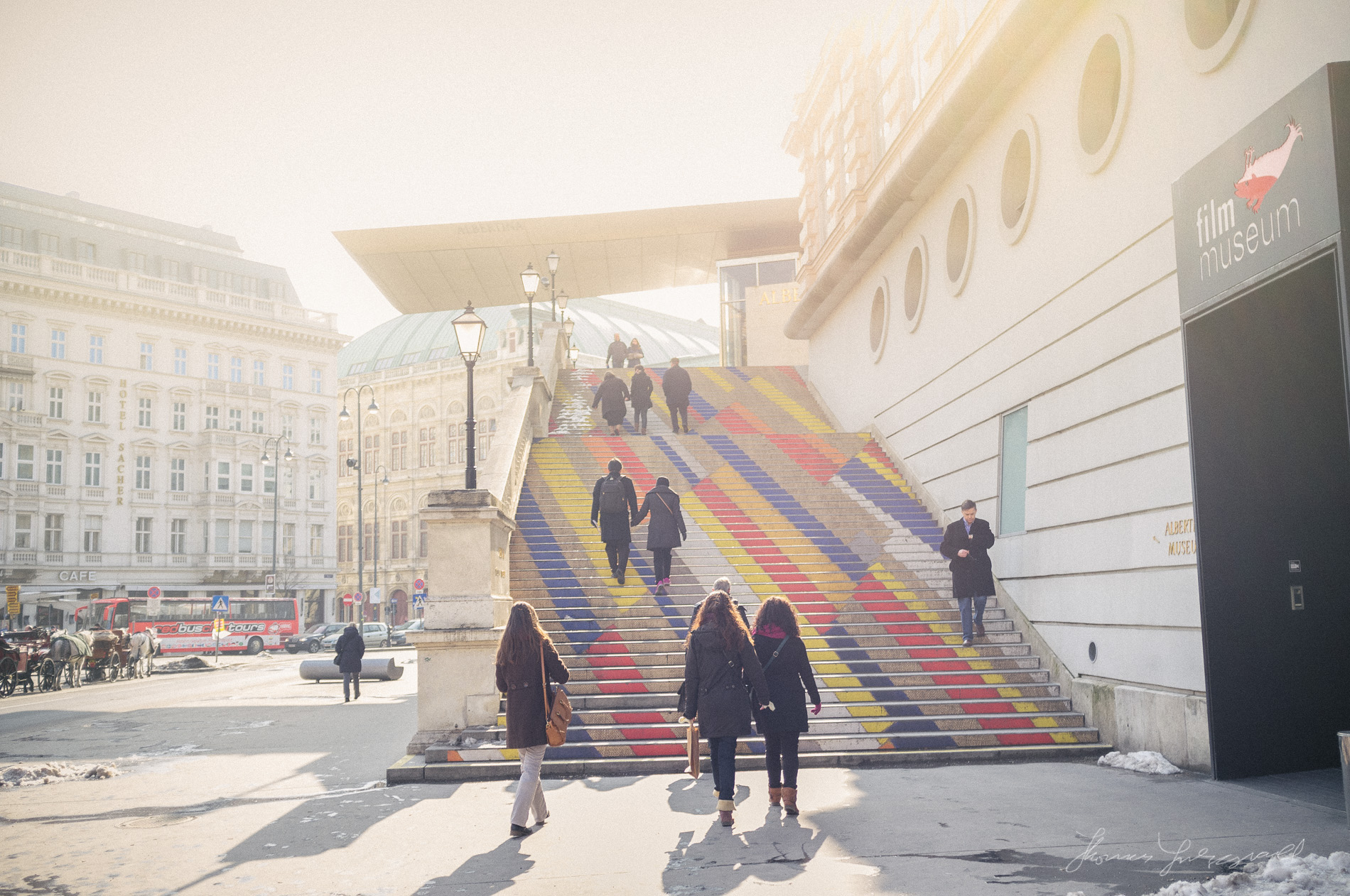 Steps outside the Film Museum,  Vienna, Fujifilm X100
