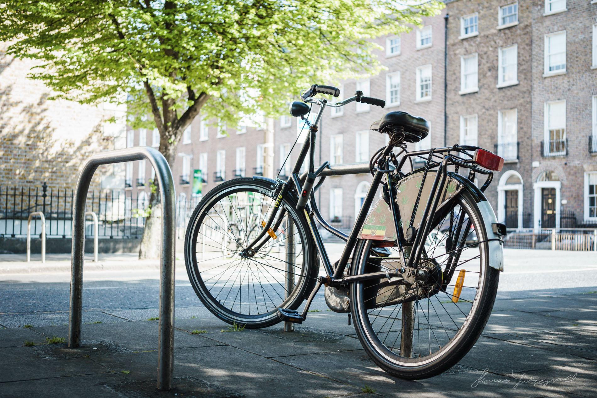 Bicycle with hemp logos