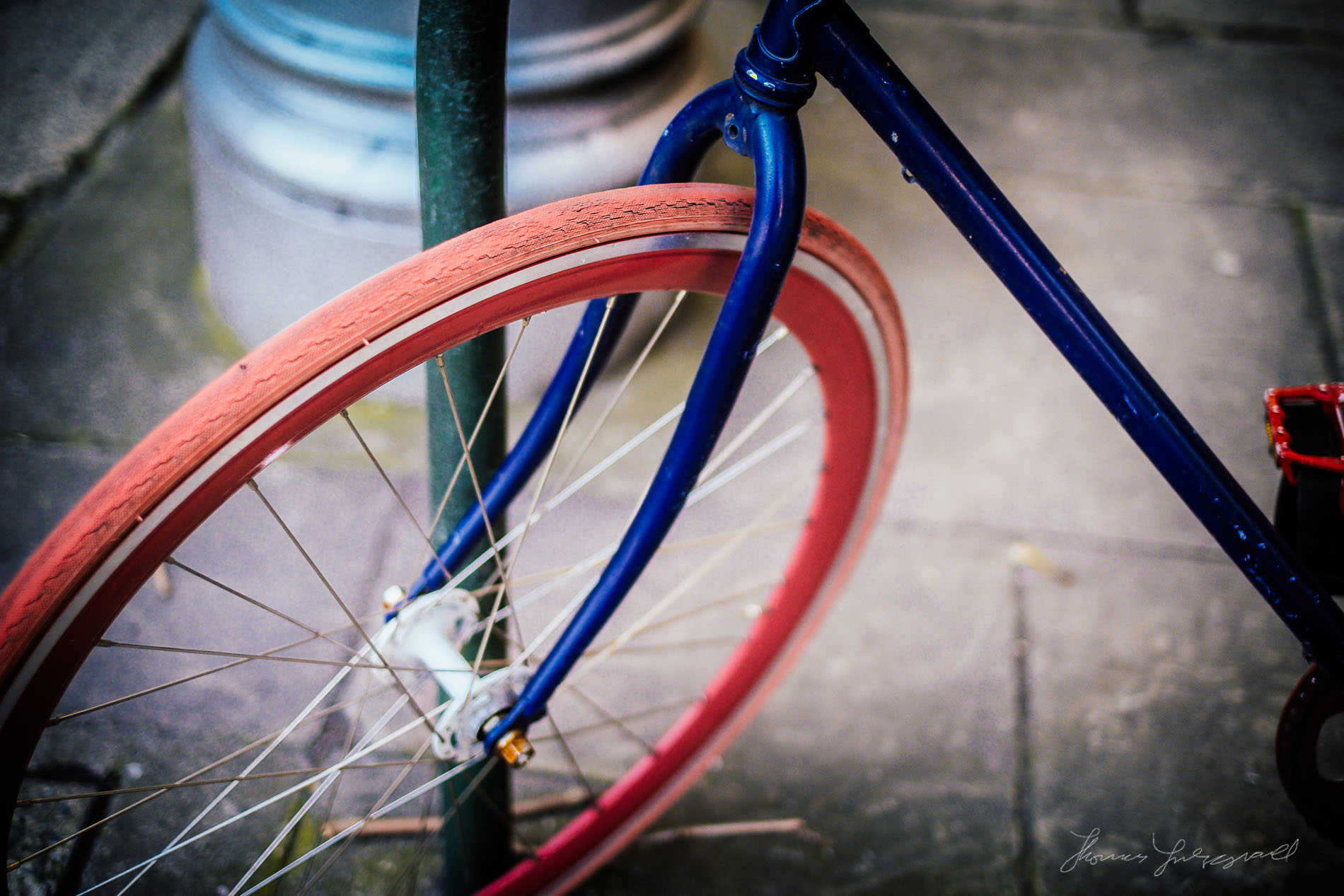 Photo of bright wheel of cycle
