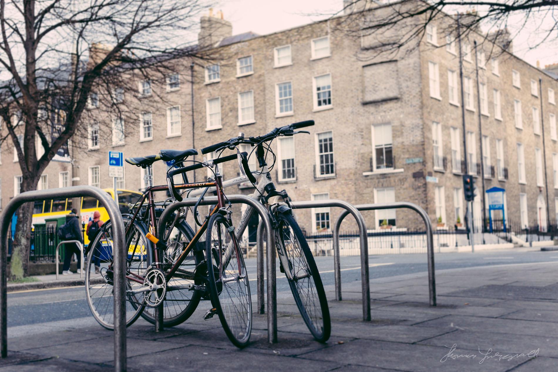 Bikes parked in Dublin City