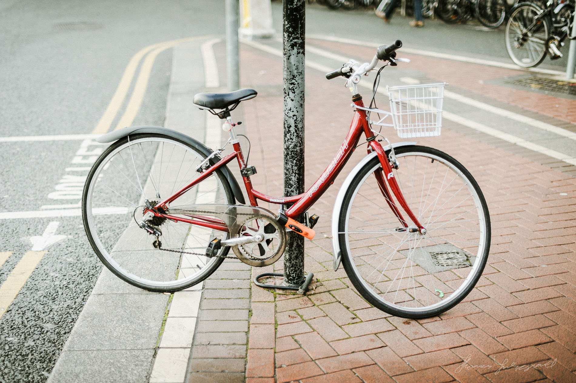Photograph of Bright Red Bicycle