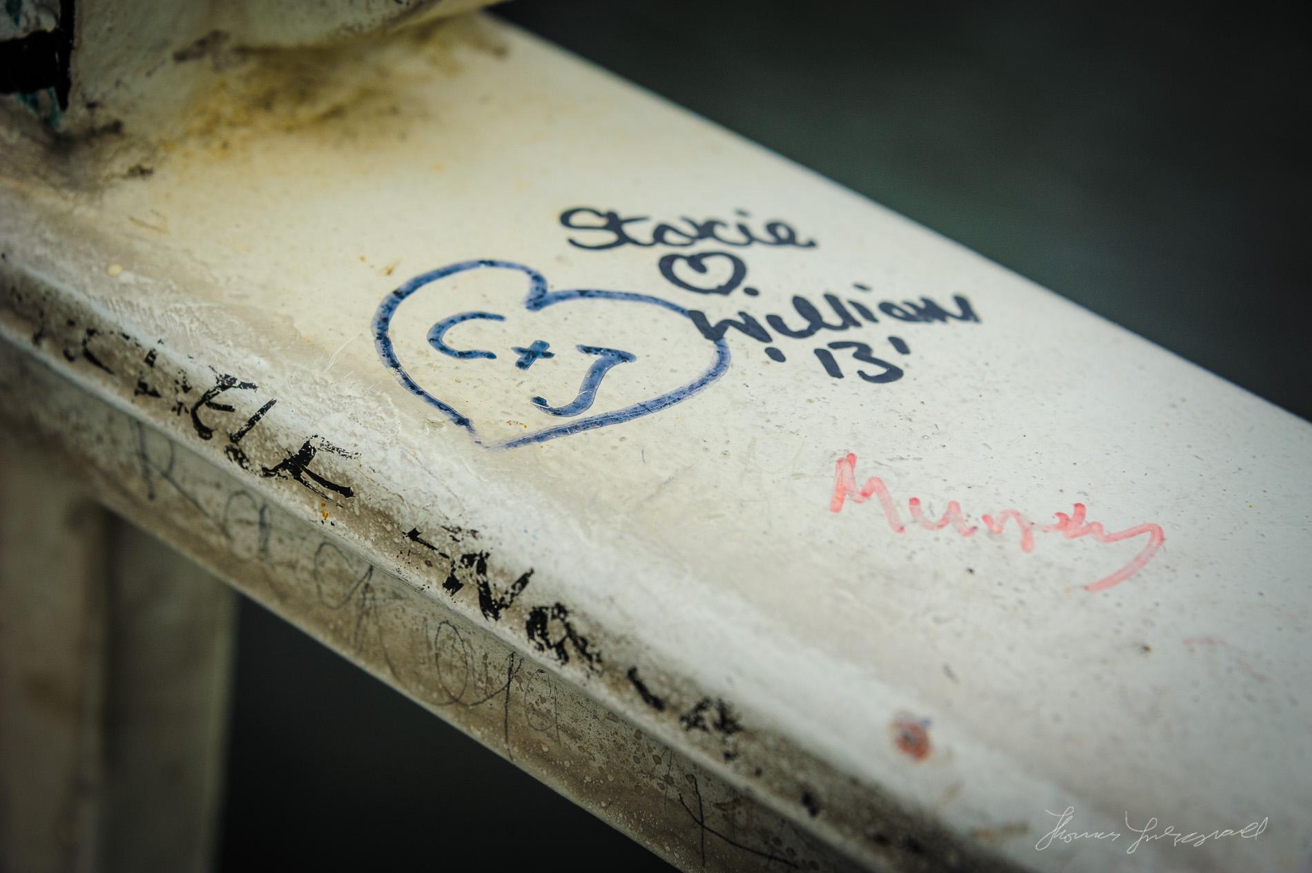 Writing on the bridge