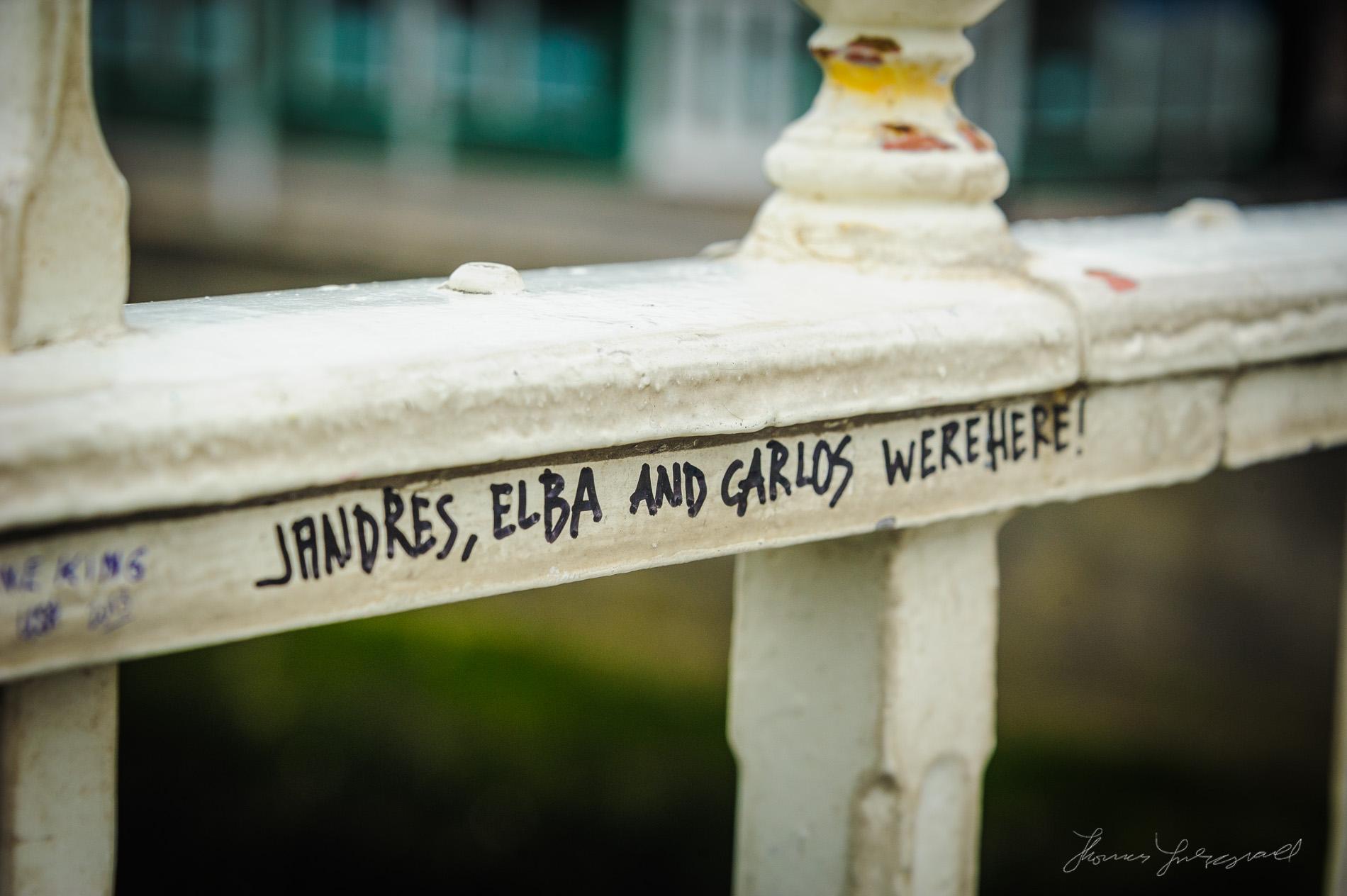 Names on the Ha'penny Bridge