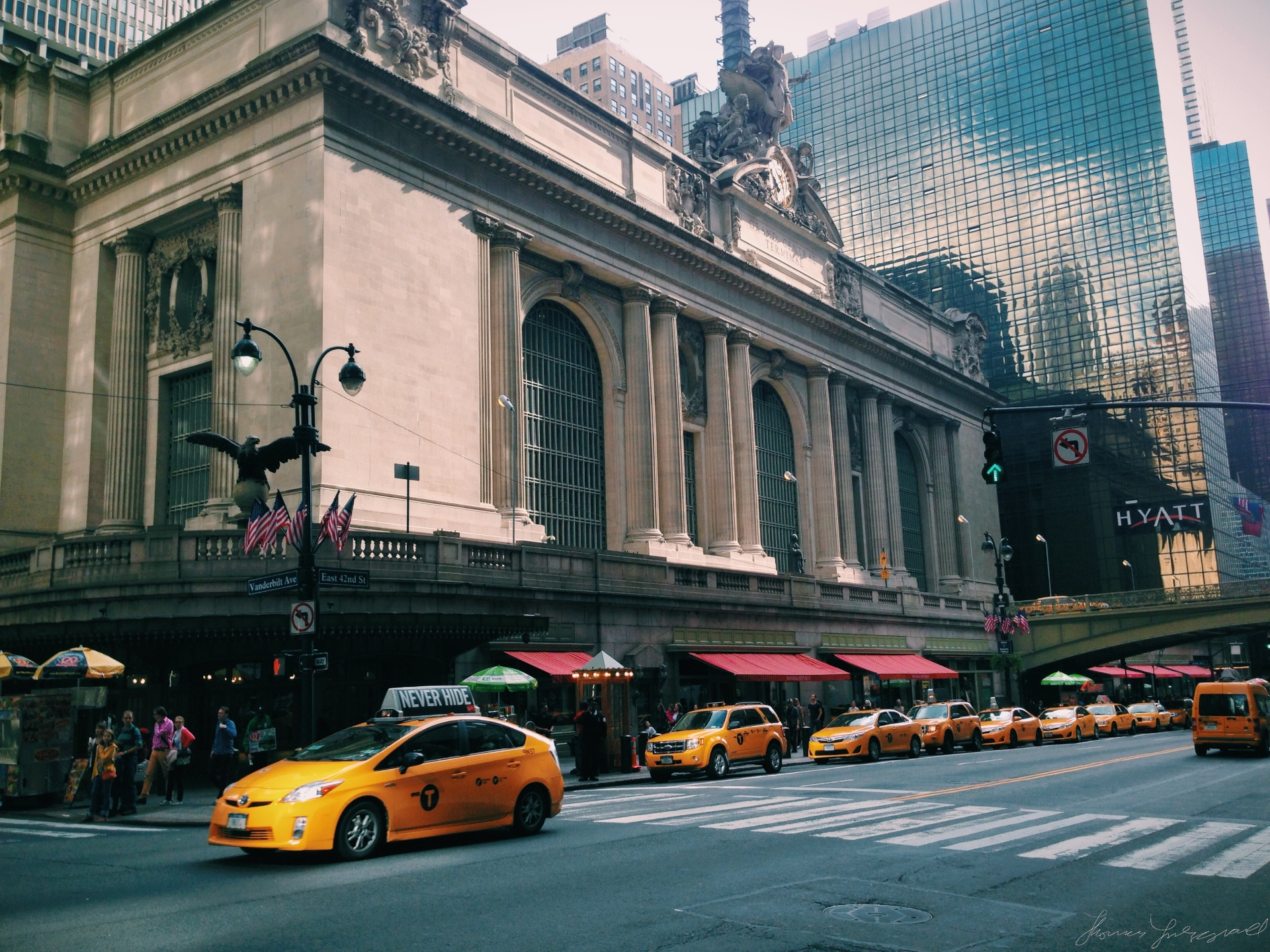 Taxis at Grand Central