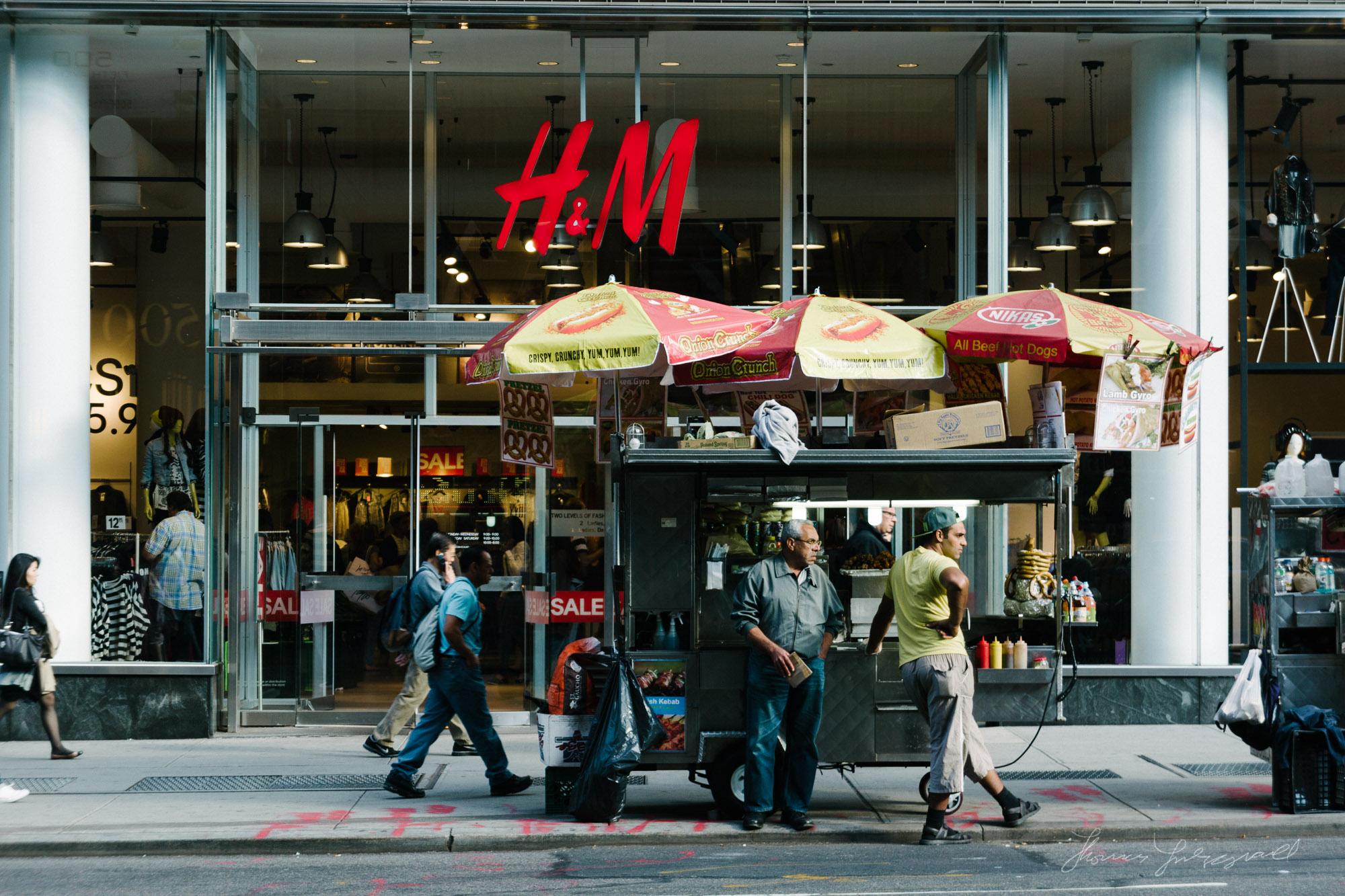 Hot Dog Vendor in New York City