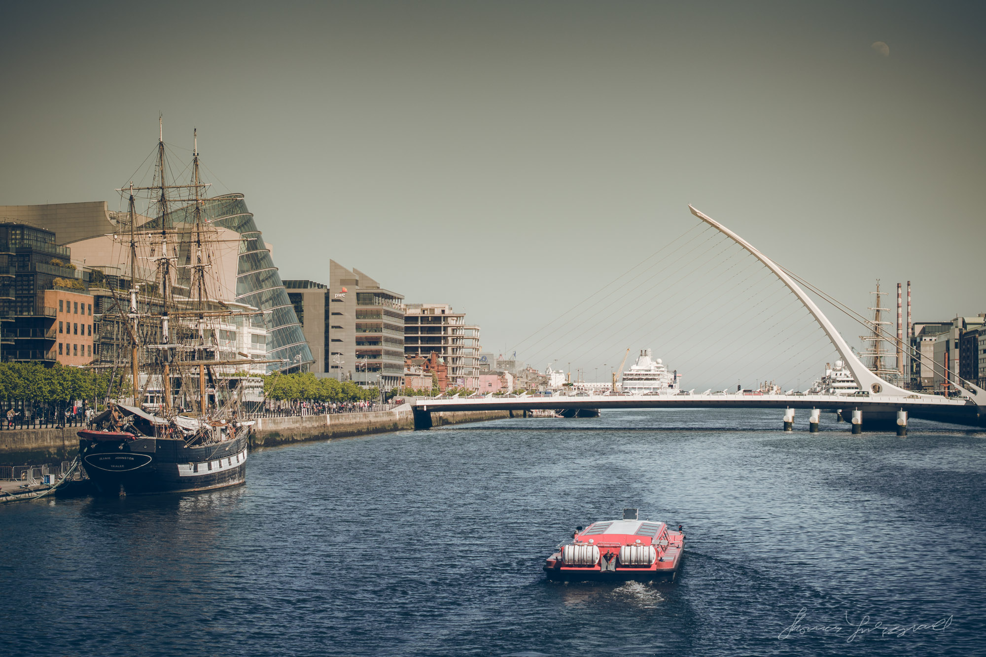 Modern Dublin and the River Liffey