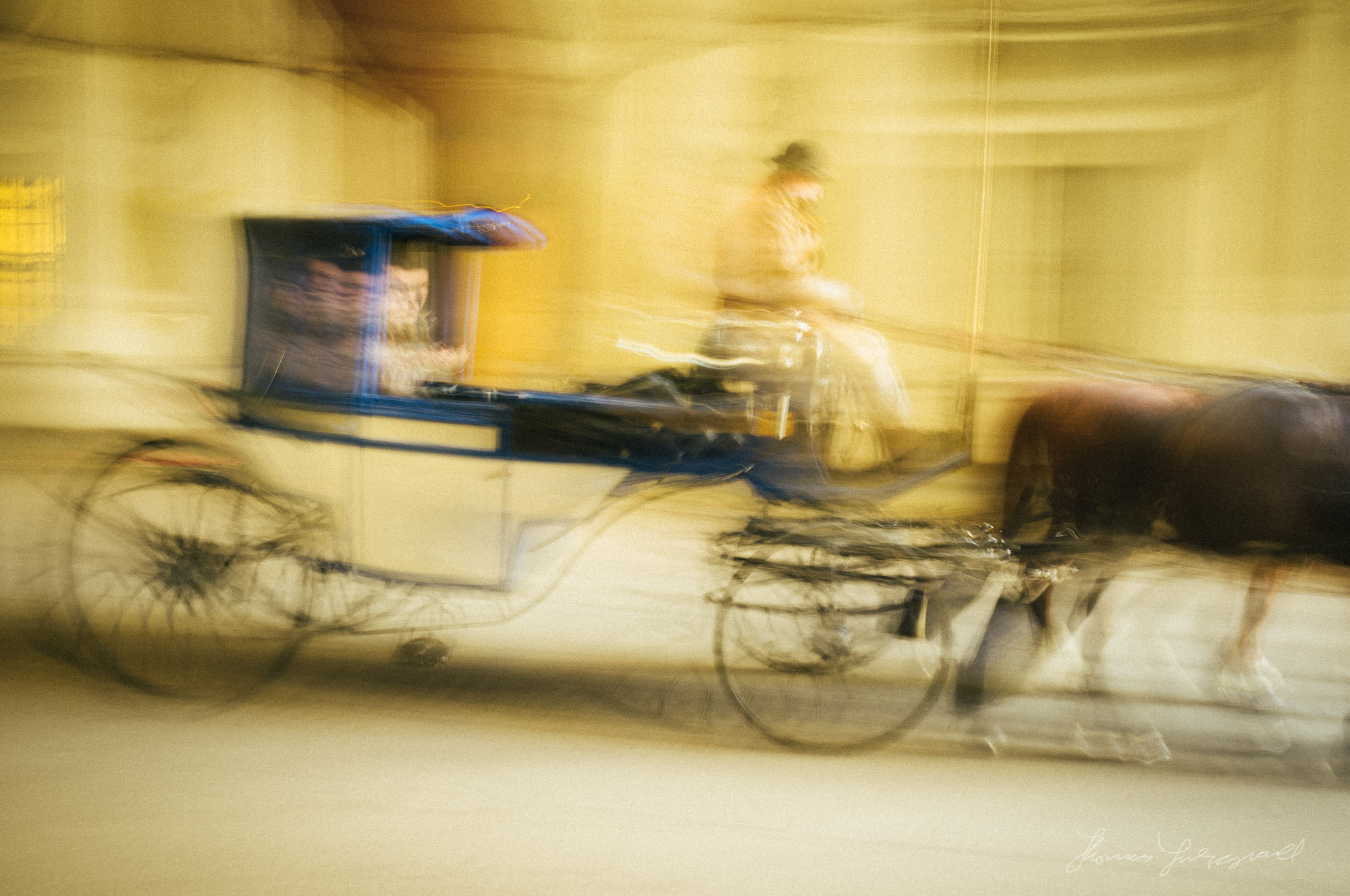 A horse and Cart in Motion, Vienna, Fujifilm X100