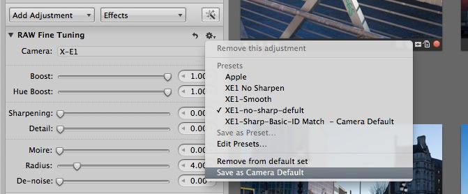 Set-as-camera-default