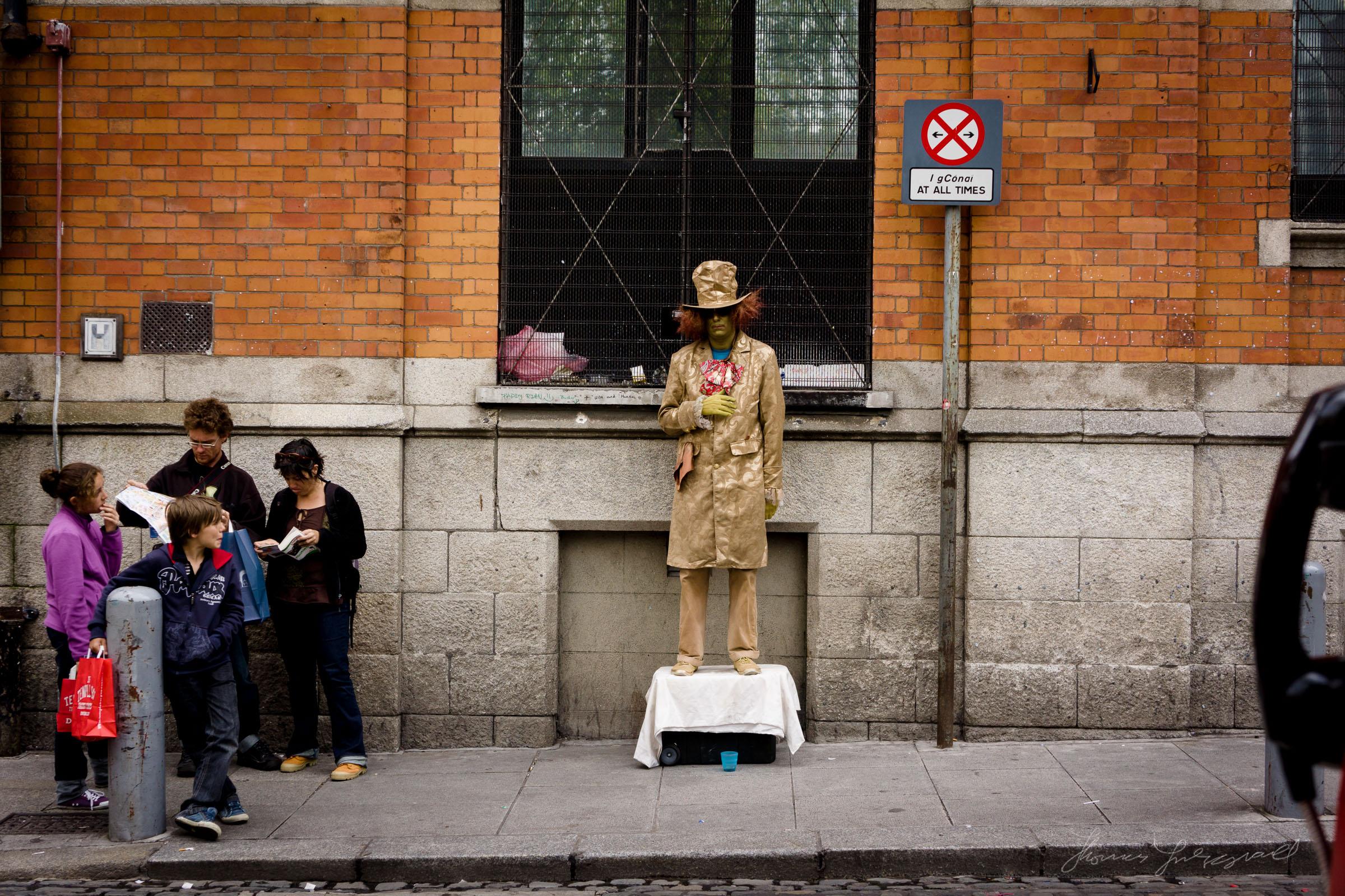 Street Performer in Temple Bar
