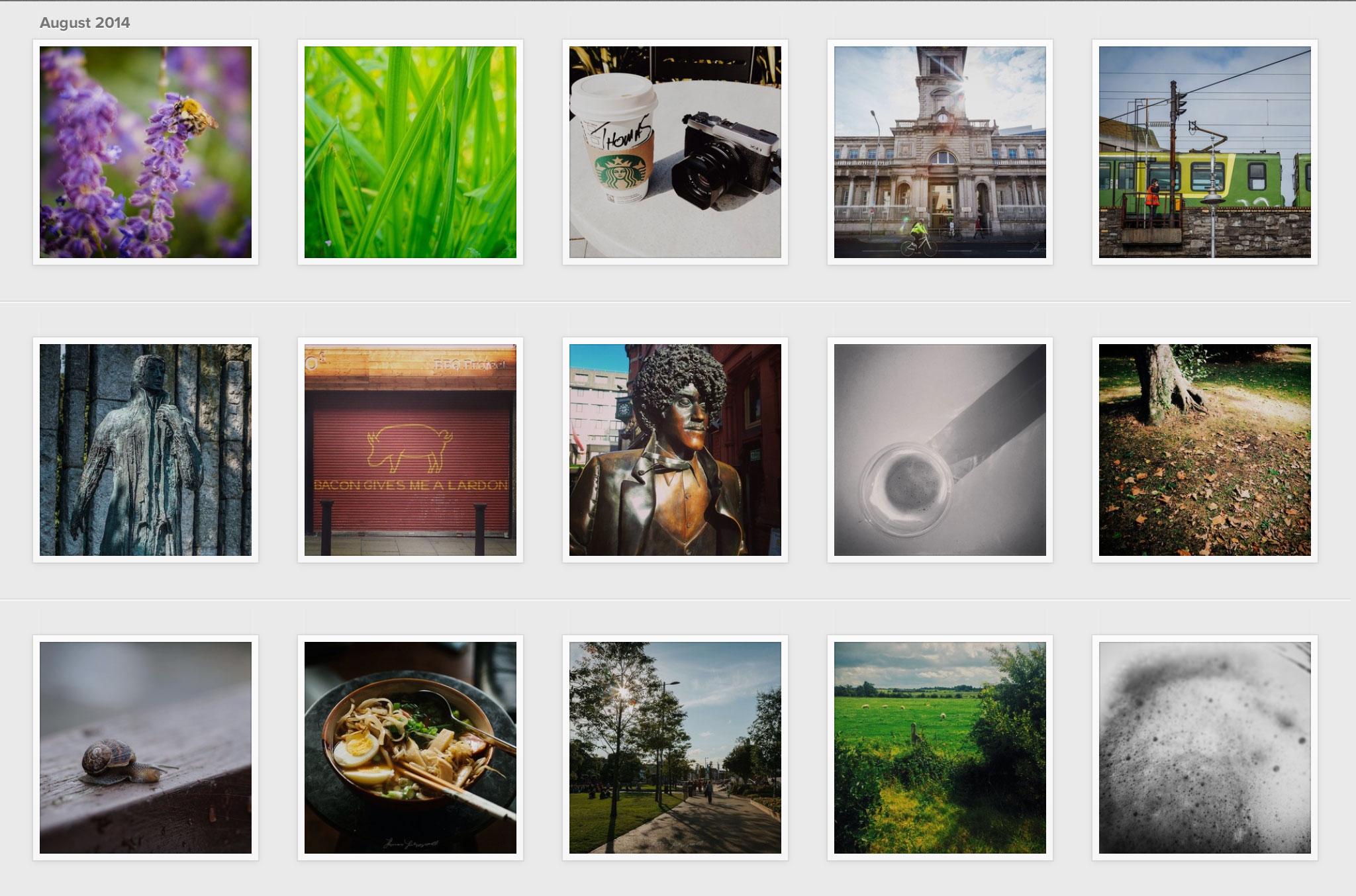 instagram-interface