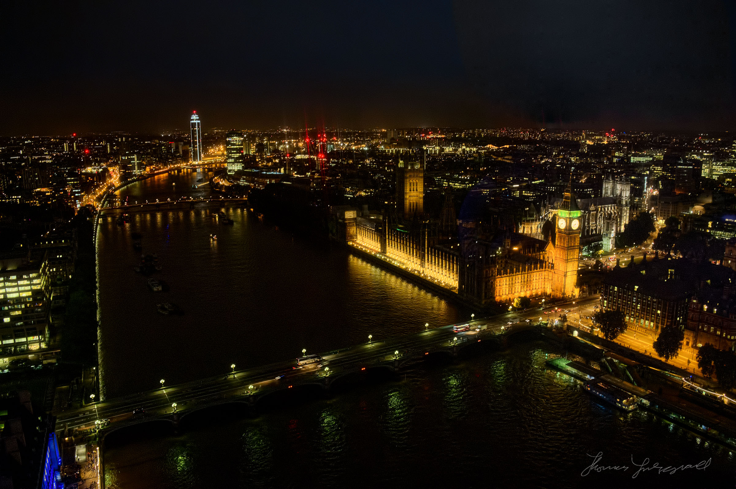The Thames and Parliament at Night