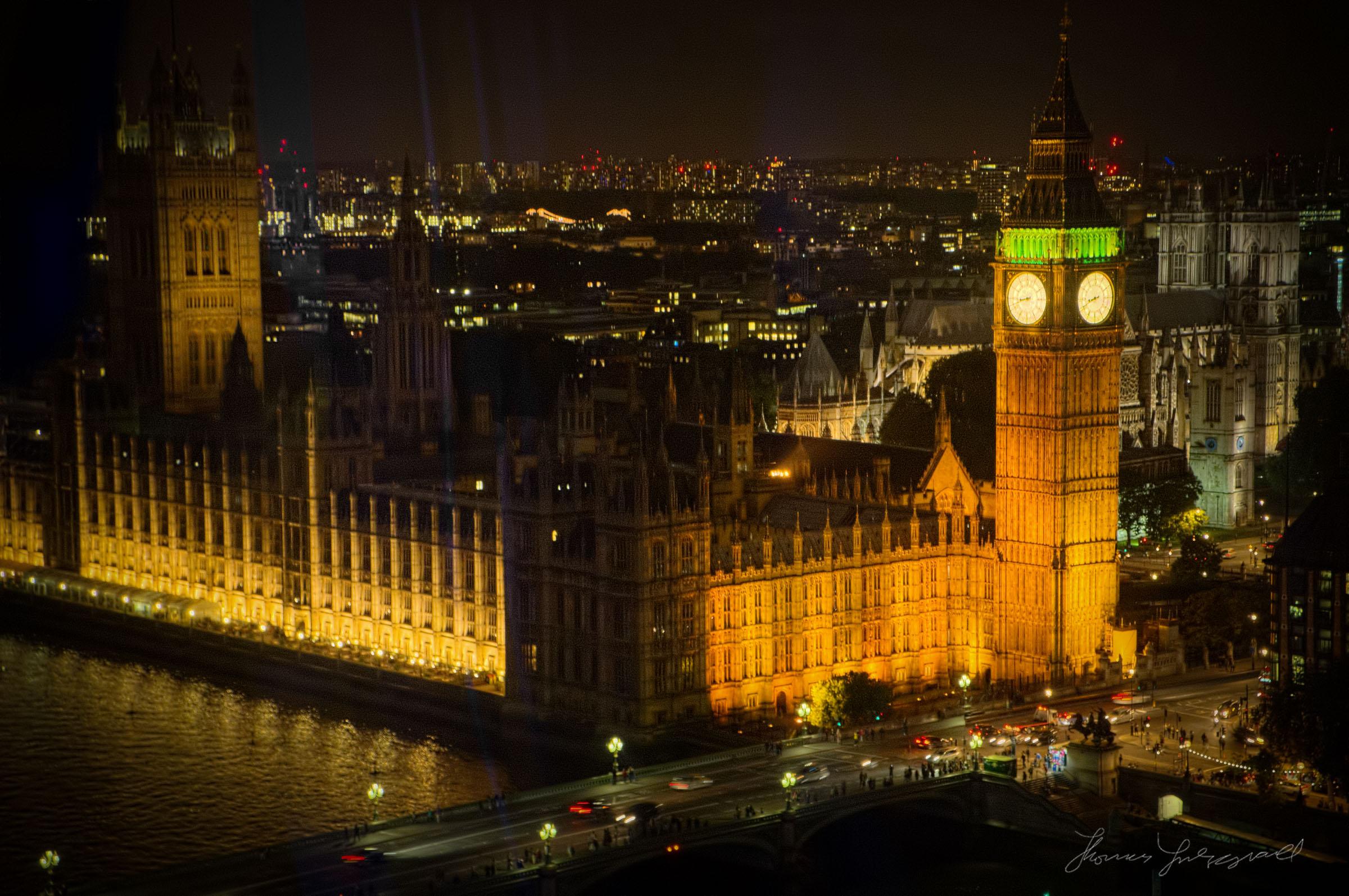 A closeup of Big Ben and Parliament at Night