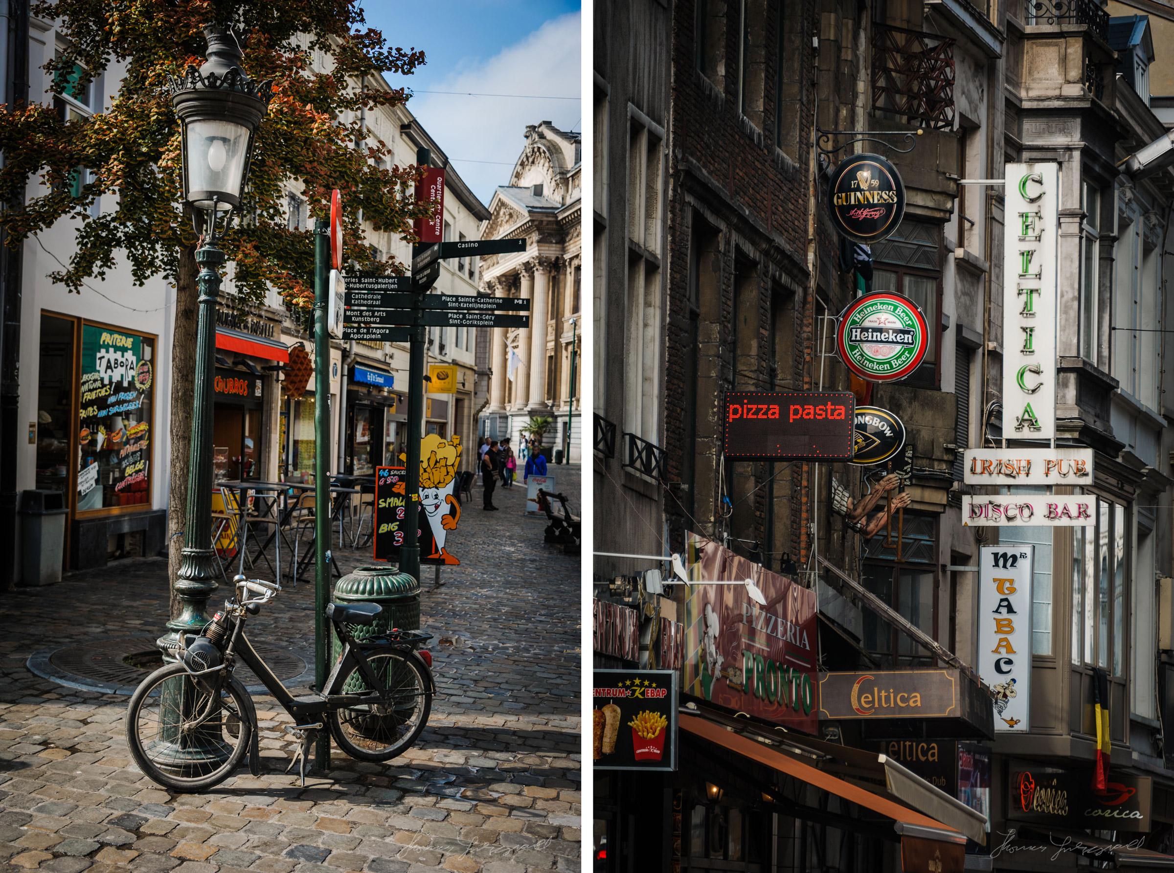 street light bike signs