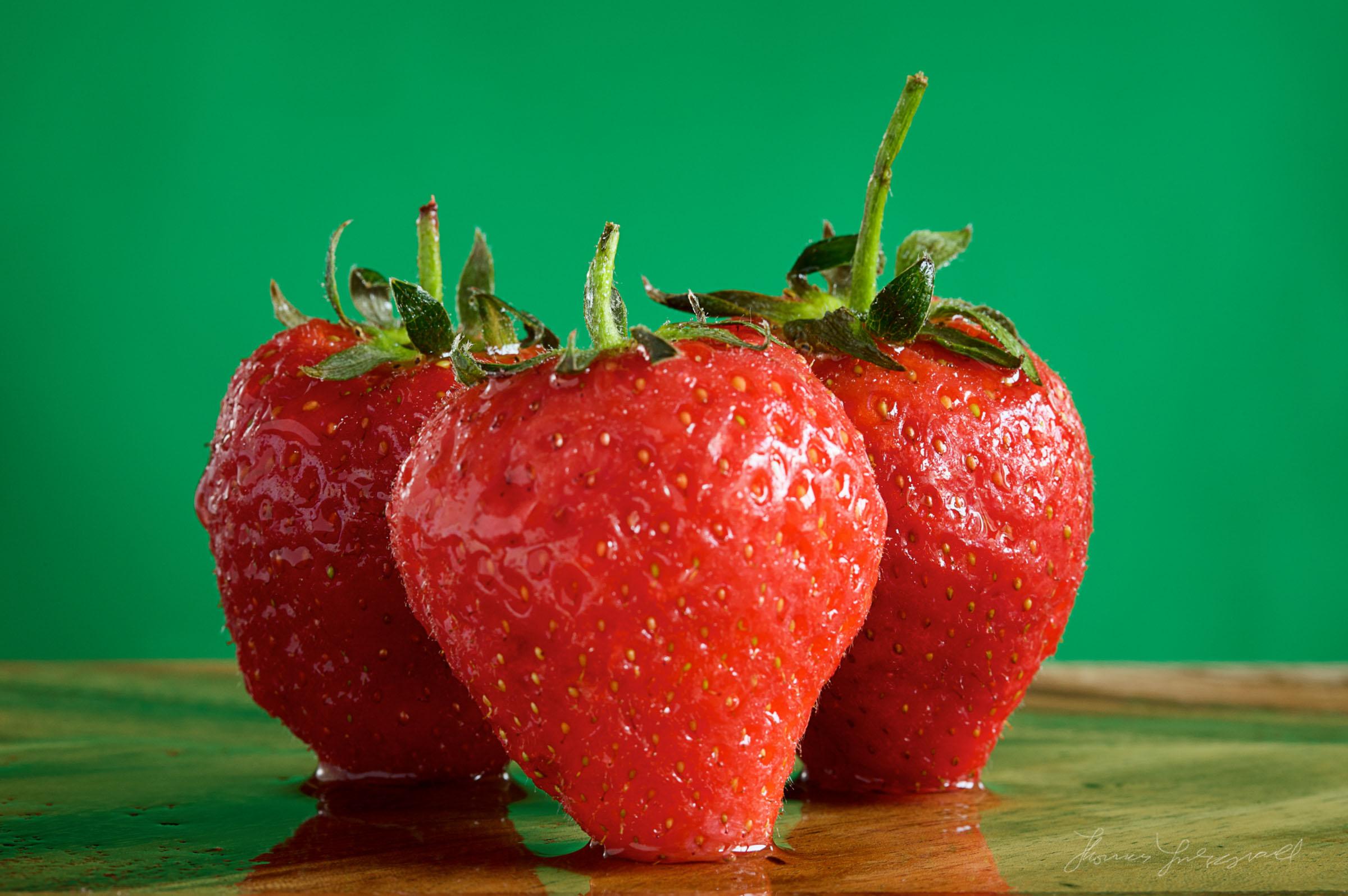 Strawberries On Wood1