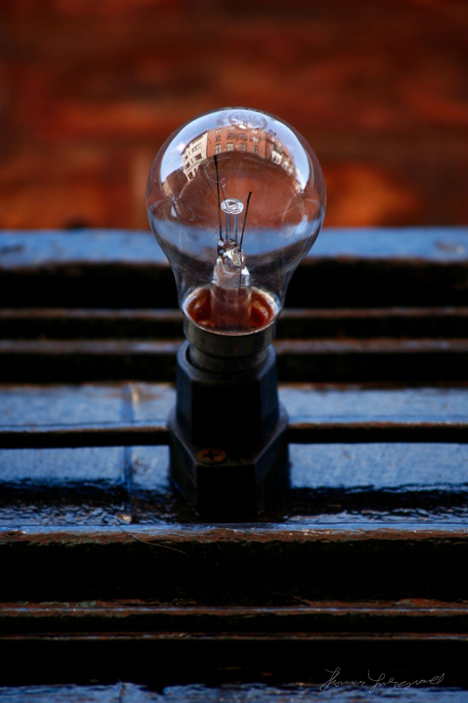 Reflections in Lightbulb