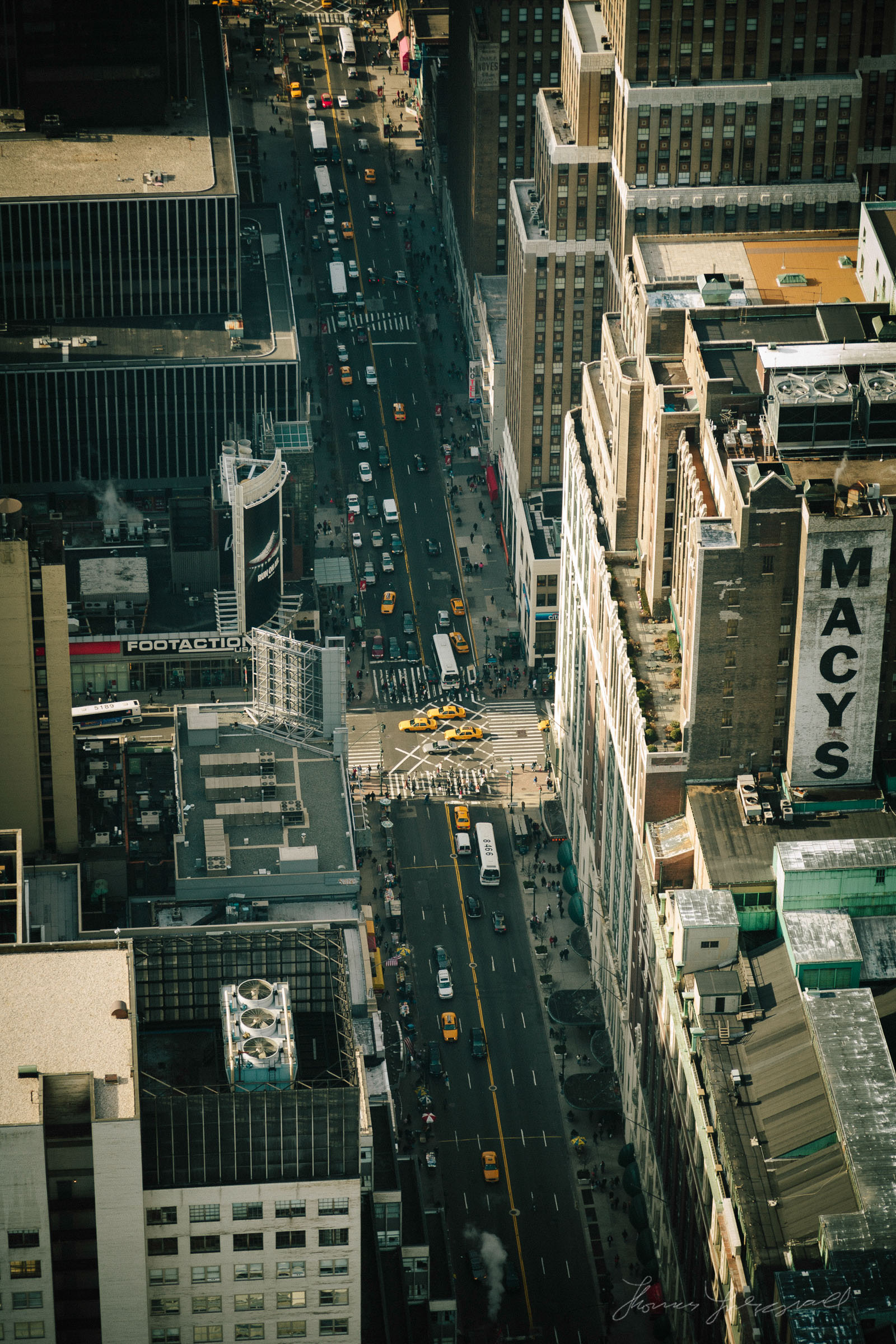 New York City Street from High Above