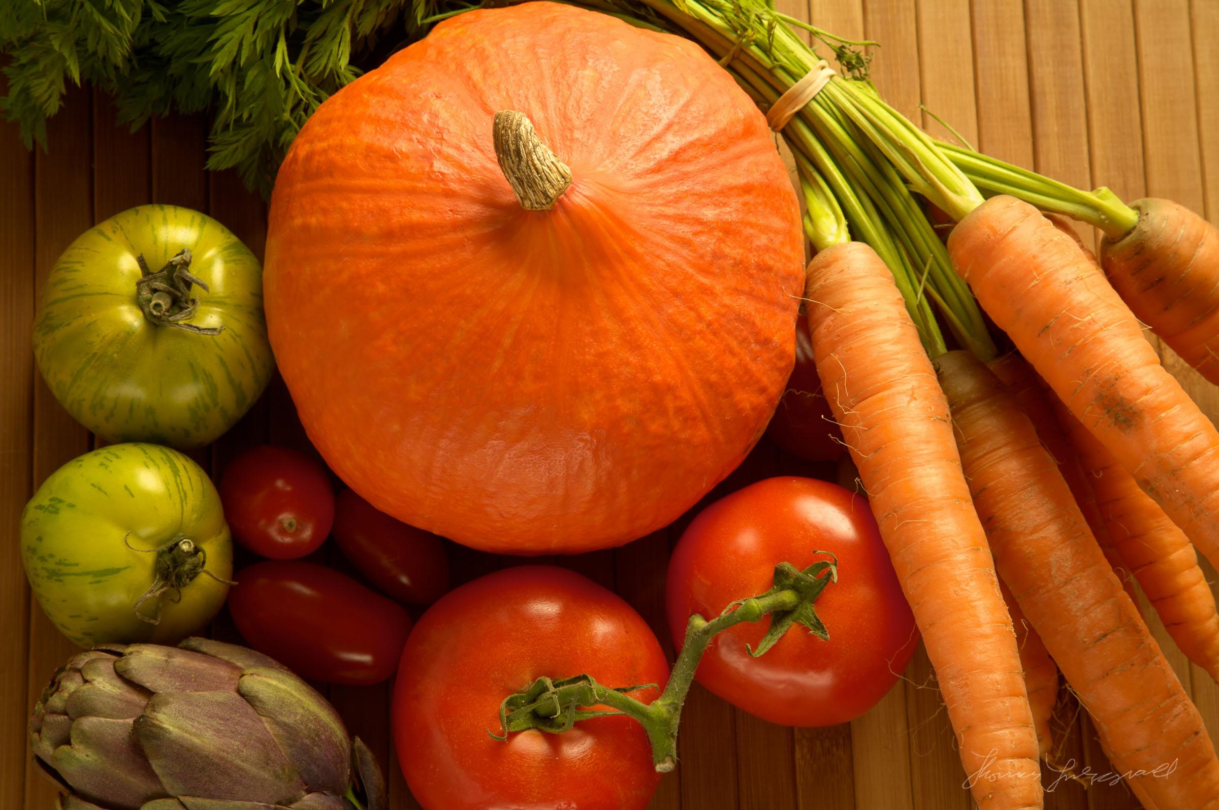 Farmers Market Vegetables On Wood Background Closer Shot.jpg