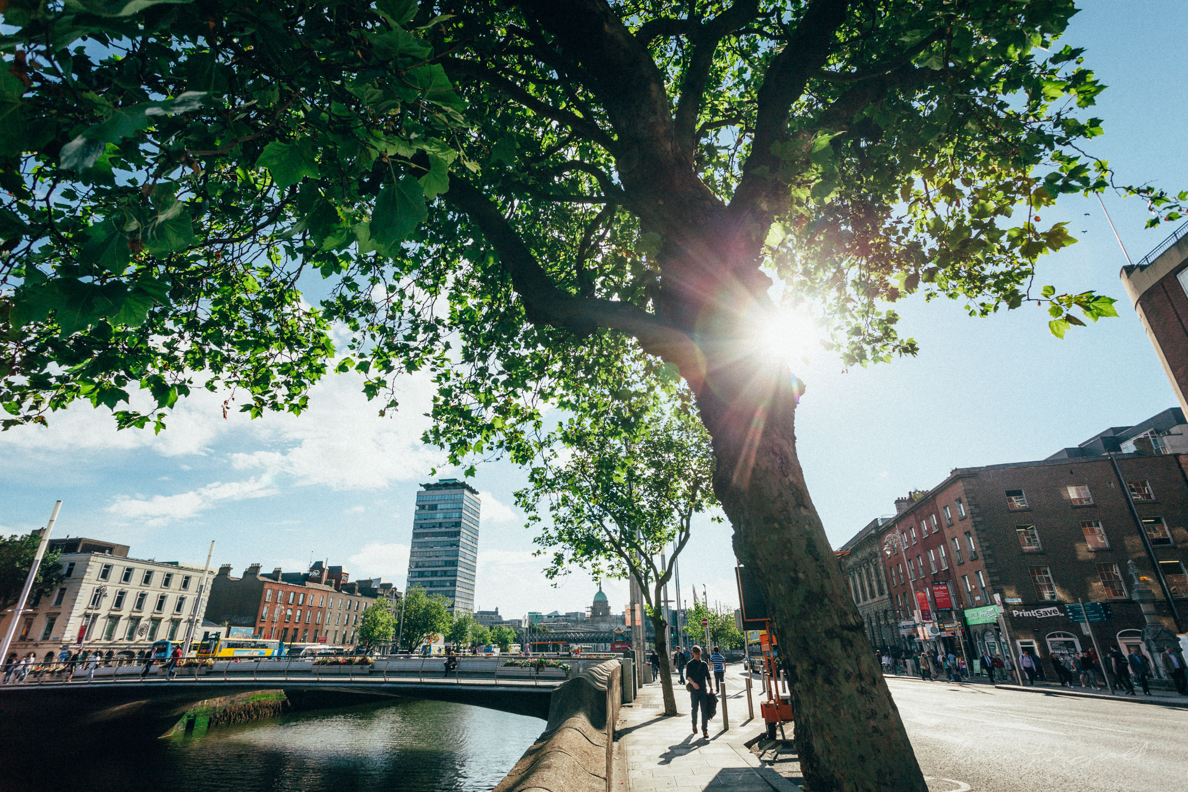 Early Morning Sunshine by the Liffey