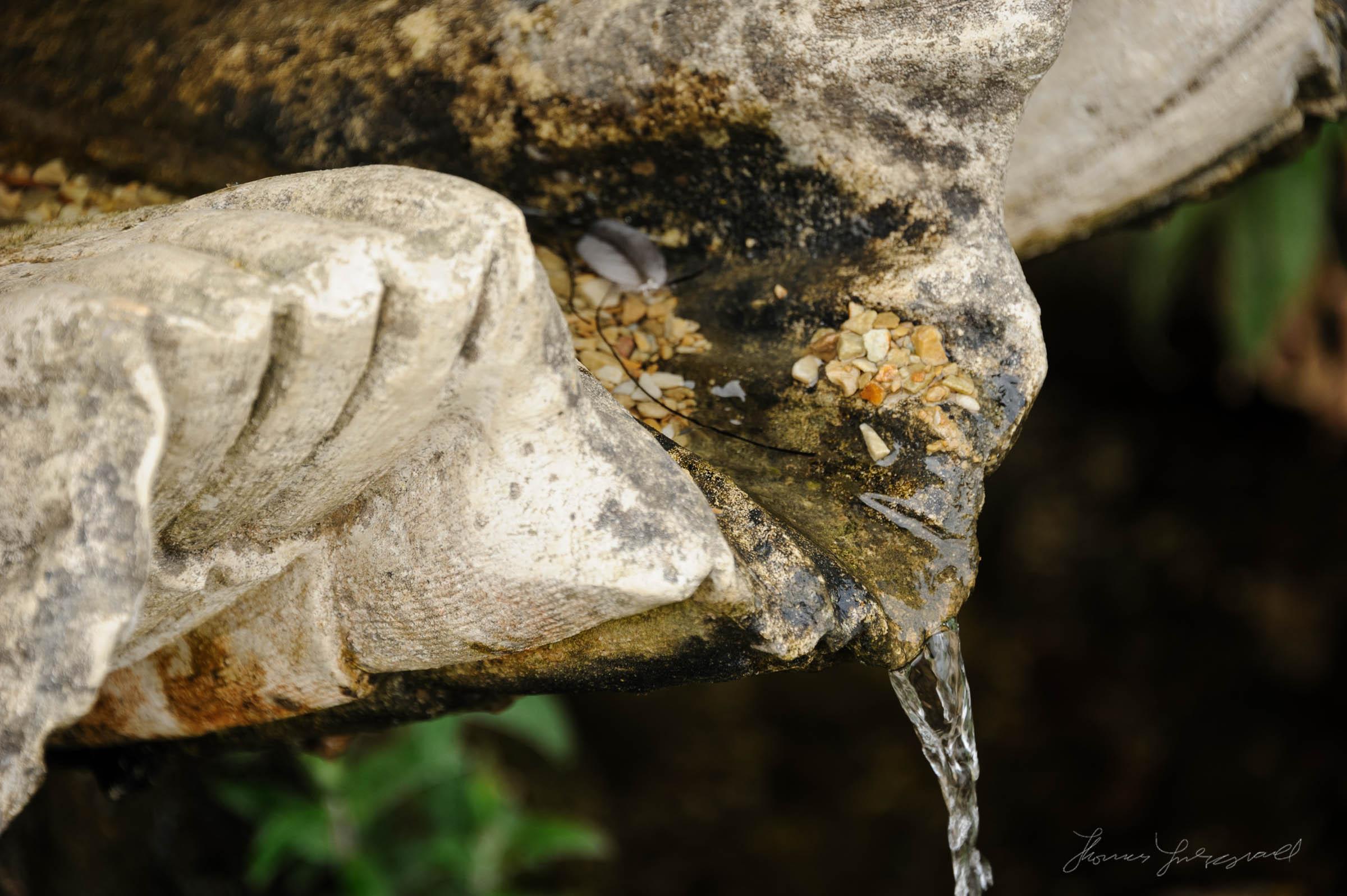 Water fountain closeup
