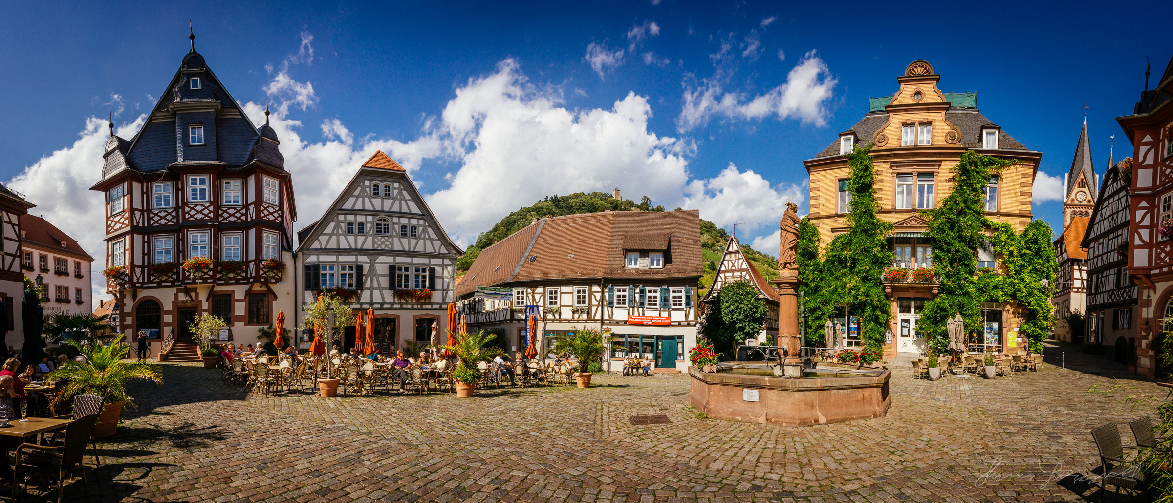 Town Square Panorama, Heppenheim, Germany