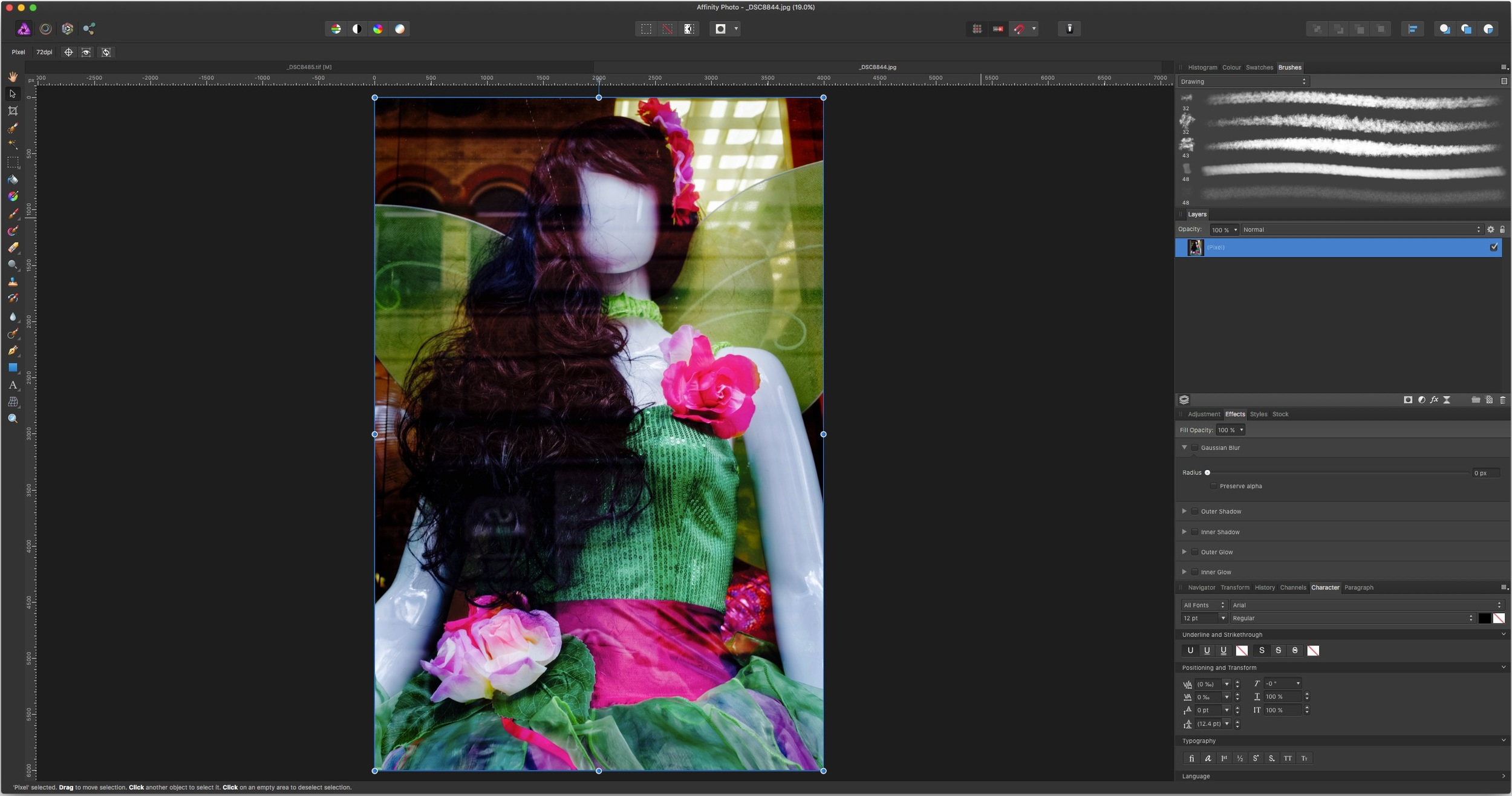 Image being edited in Affinity Photo