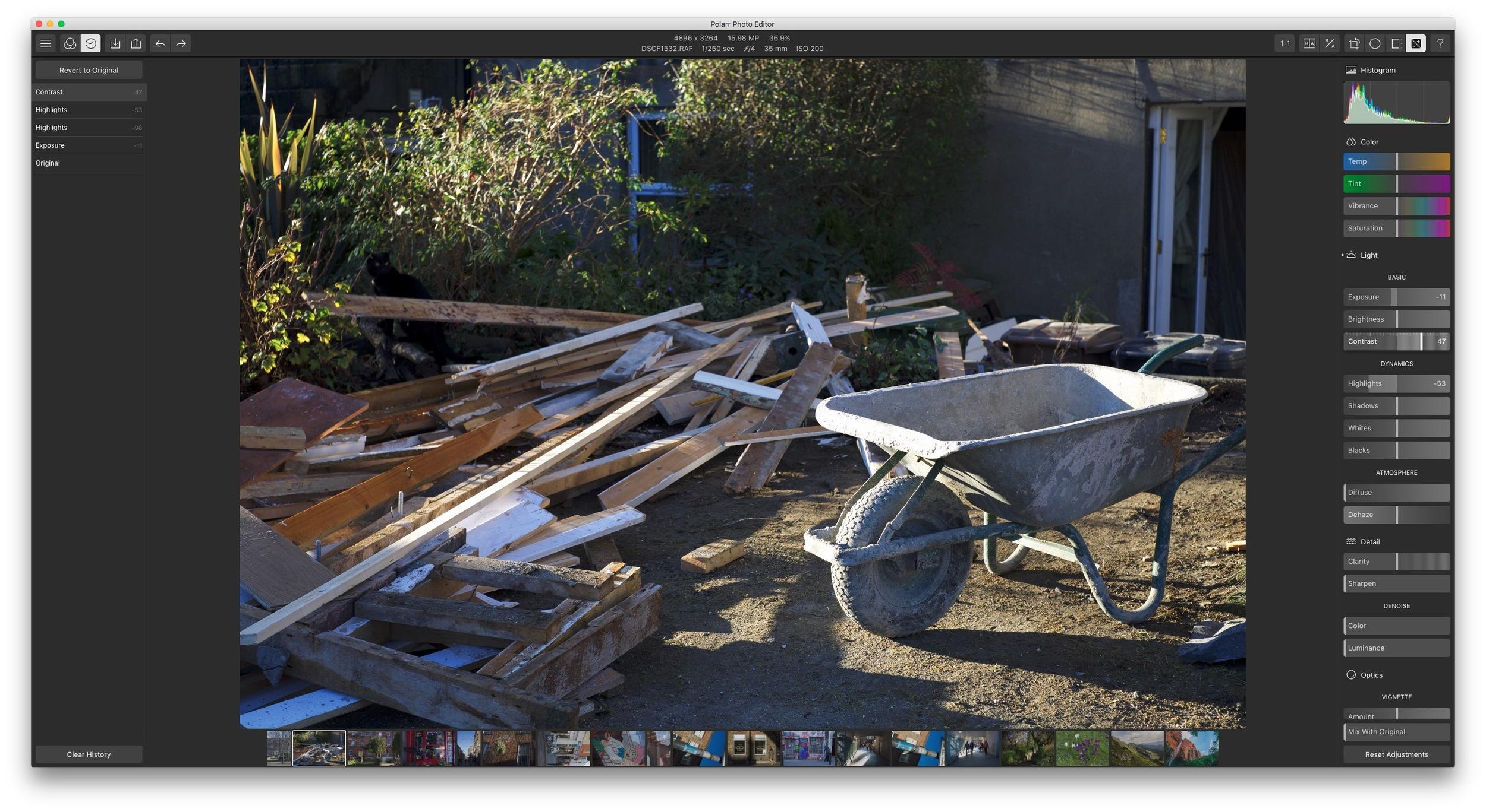Polarr Photo Editor with Fuji X-Trans File