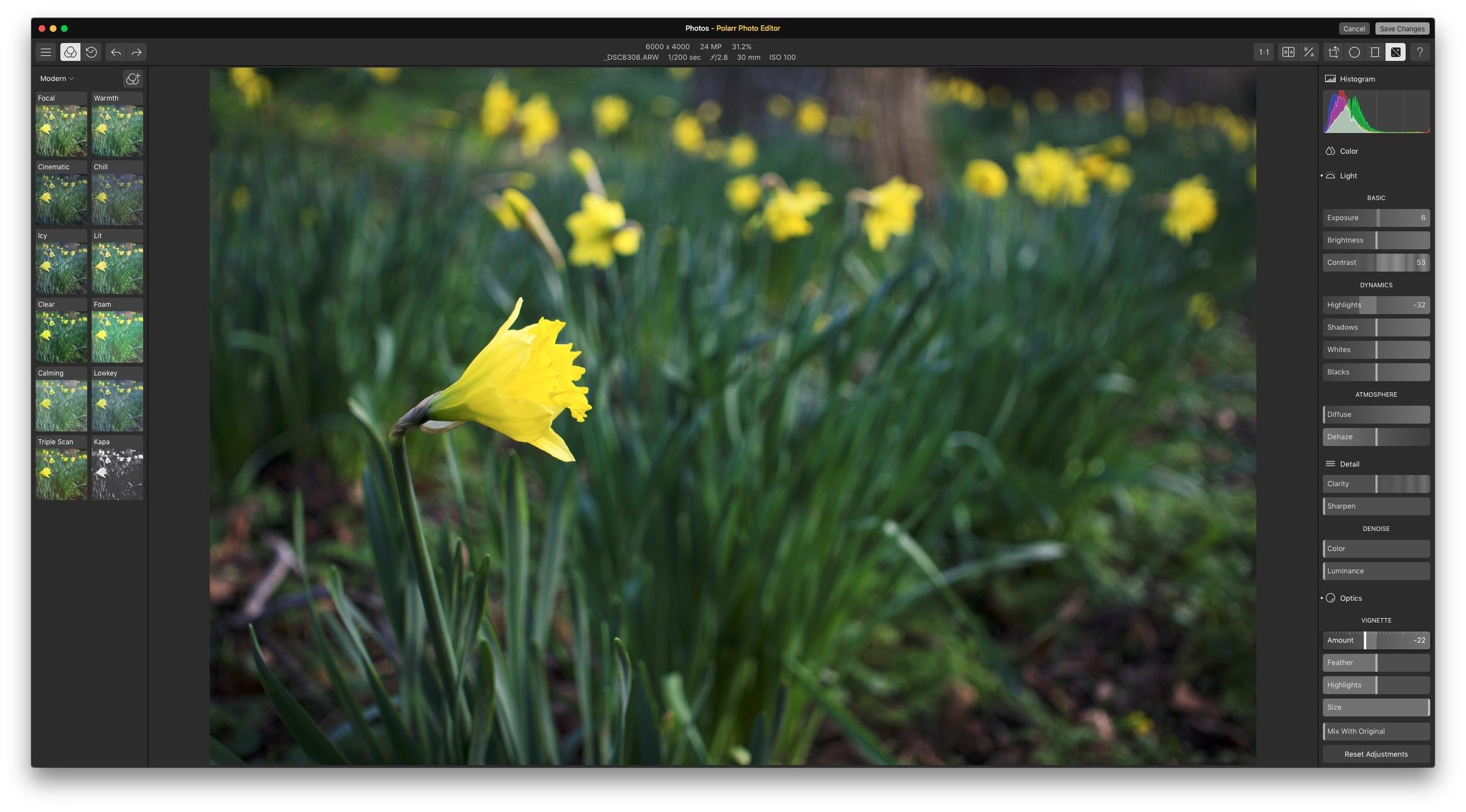 Polarr Photo Editor as a Photos Edit Extension