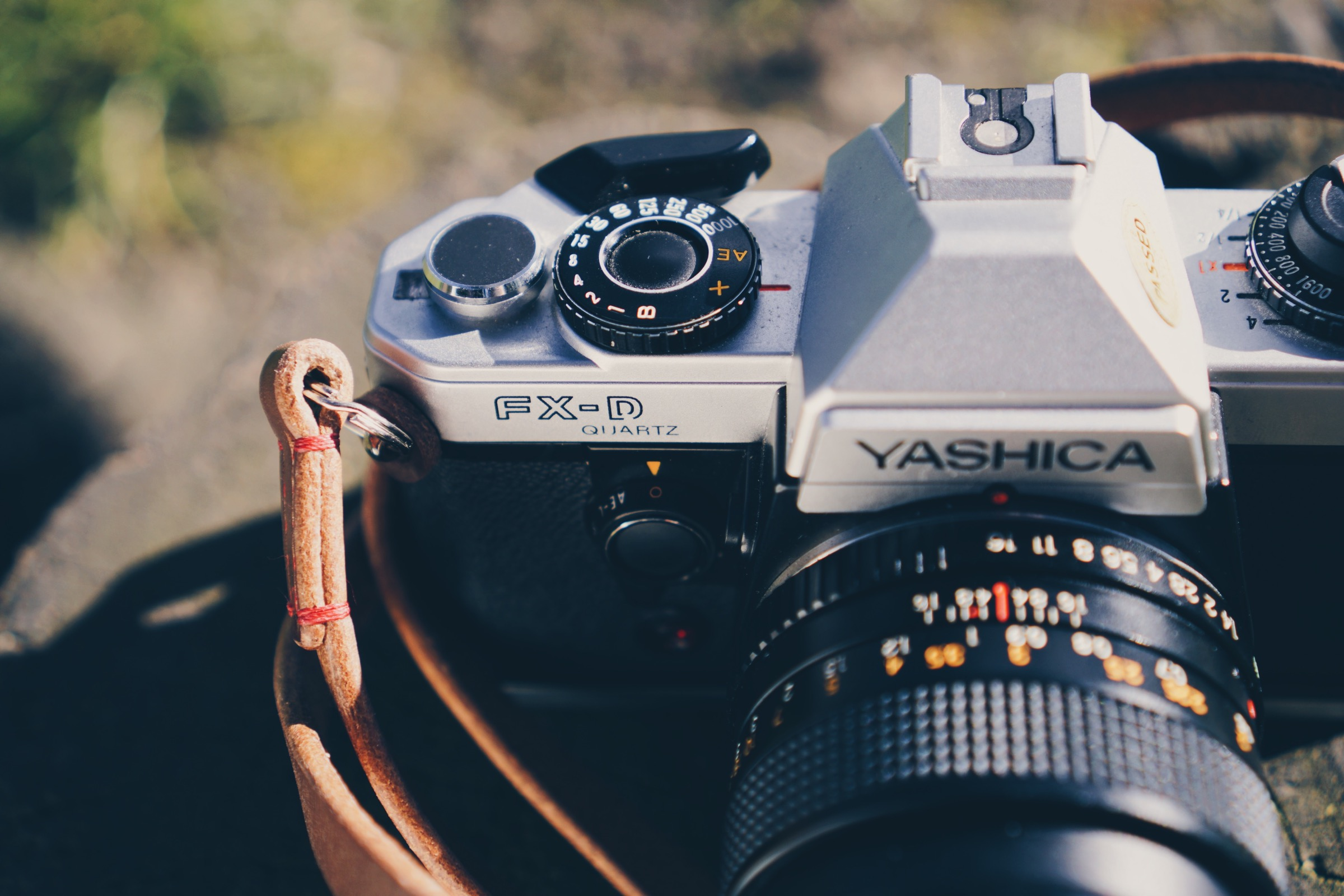 Handmade camera strap from etsy