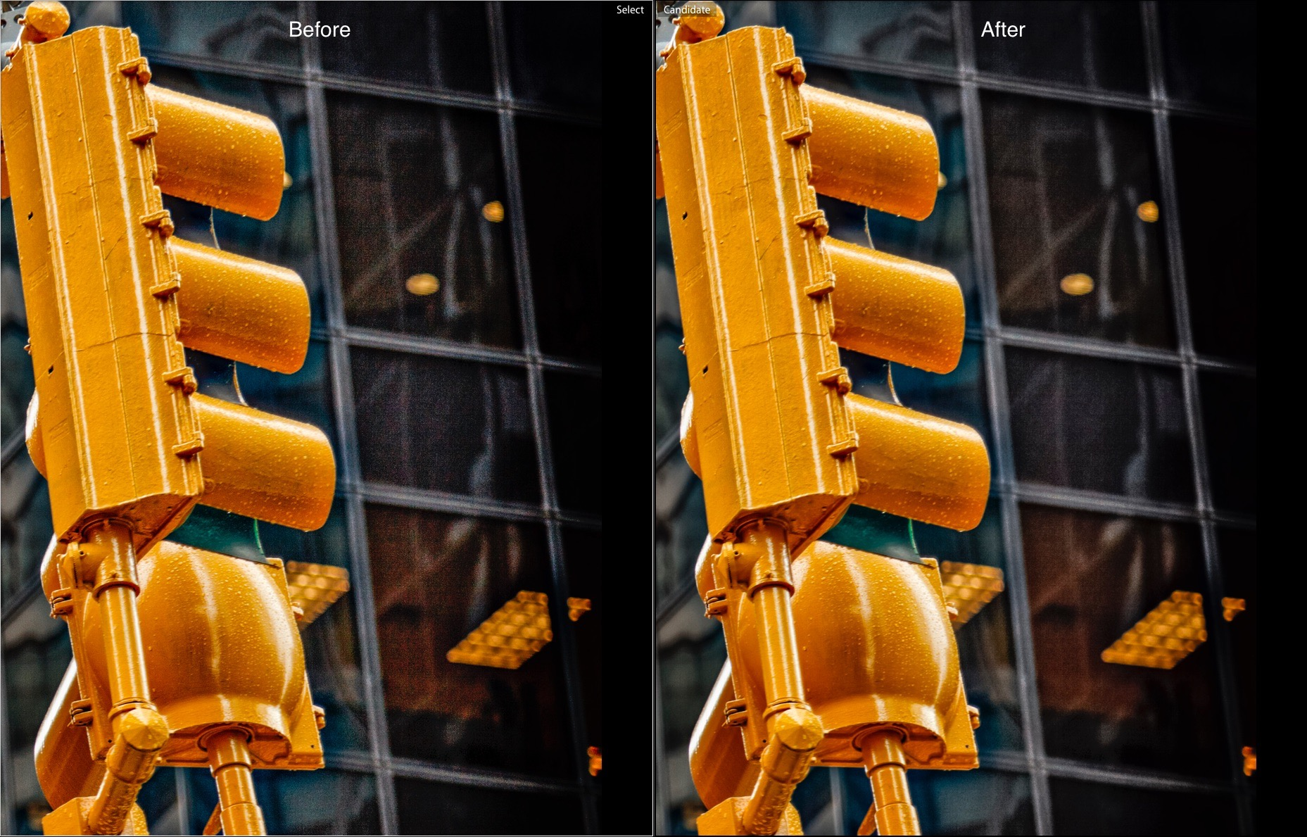 Before and After -How to Reduce Shadow Noise using Lightroom and Photoshop