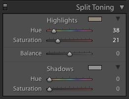 Adjusting the Highlights of the Split Tone