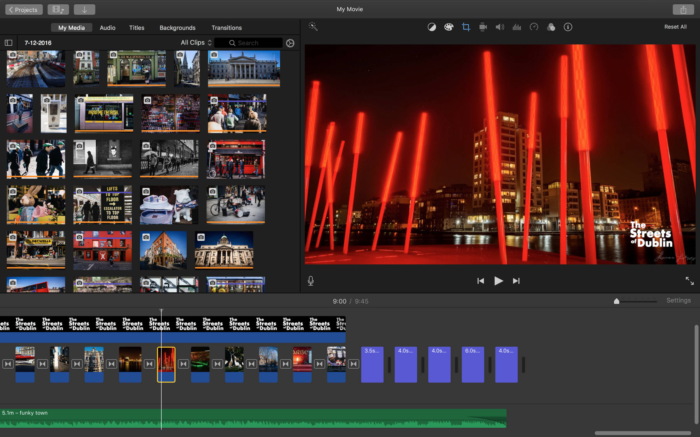 creating a video slideshow from photos with iMovie