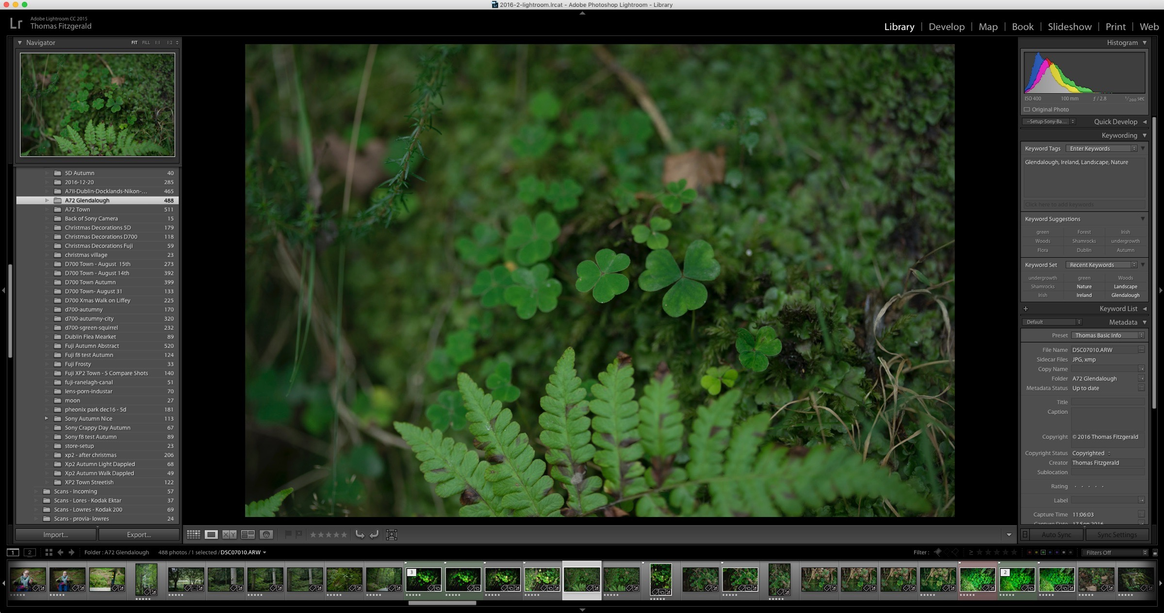 One of the raw un-edited images in Lightroom before any editing