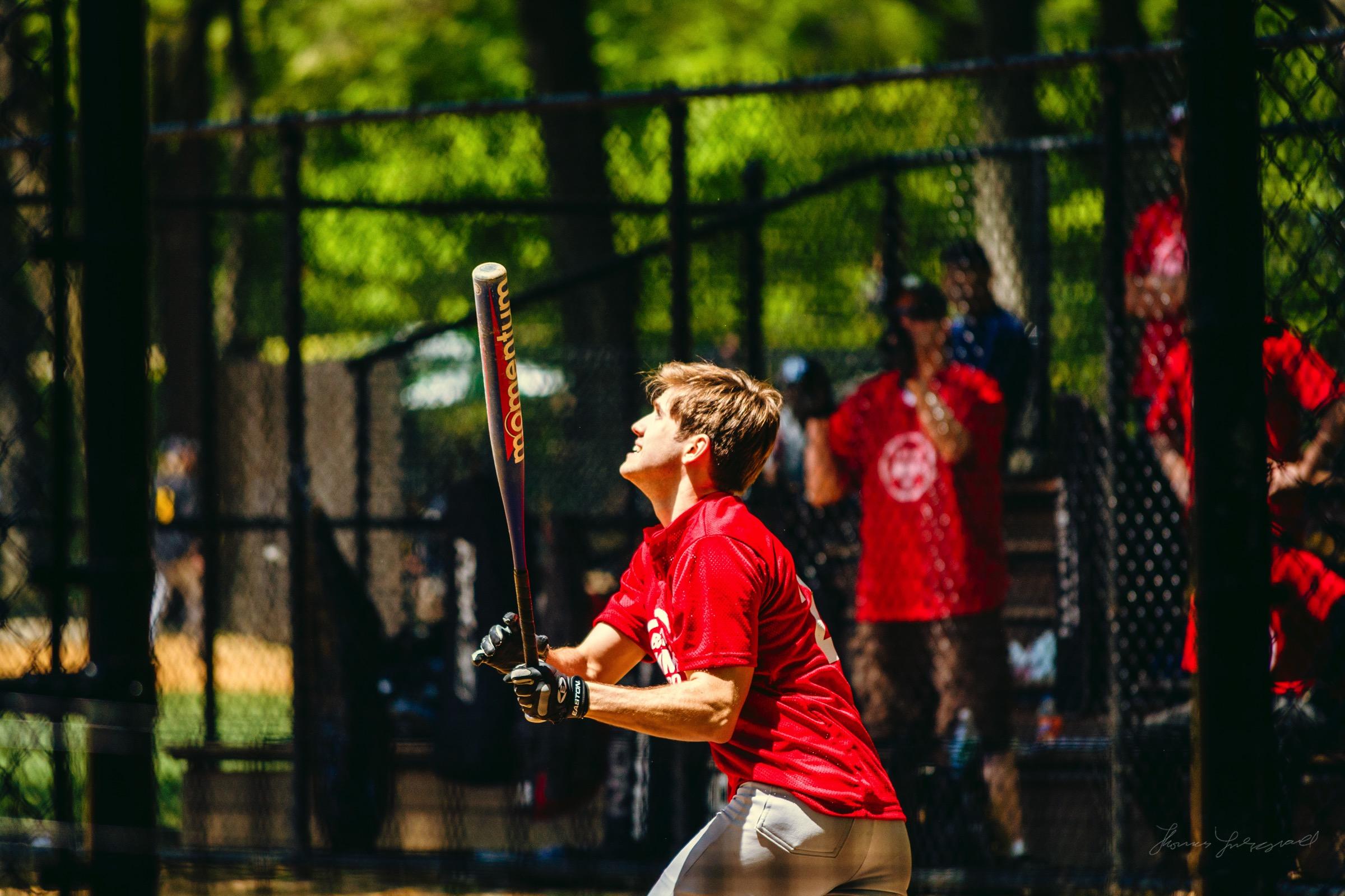 People playing baseball in NewYork City