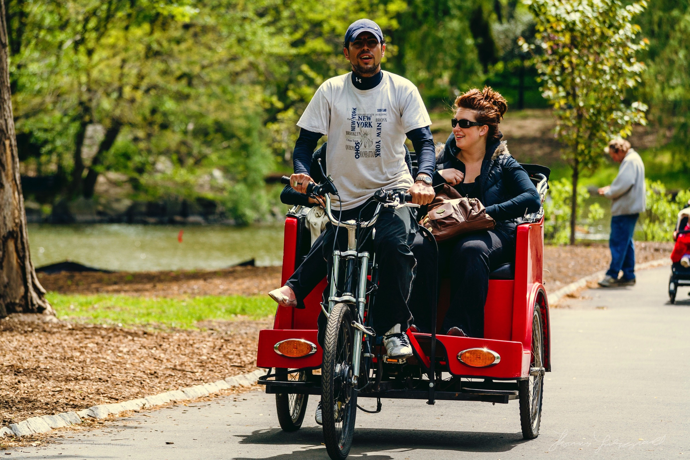 Cycle Cab ride in Central Park