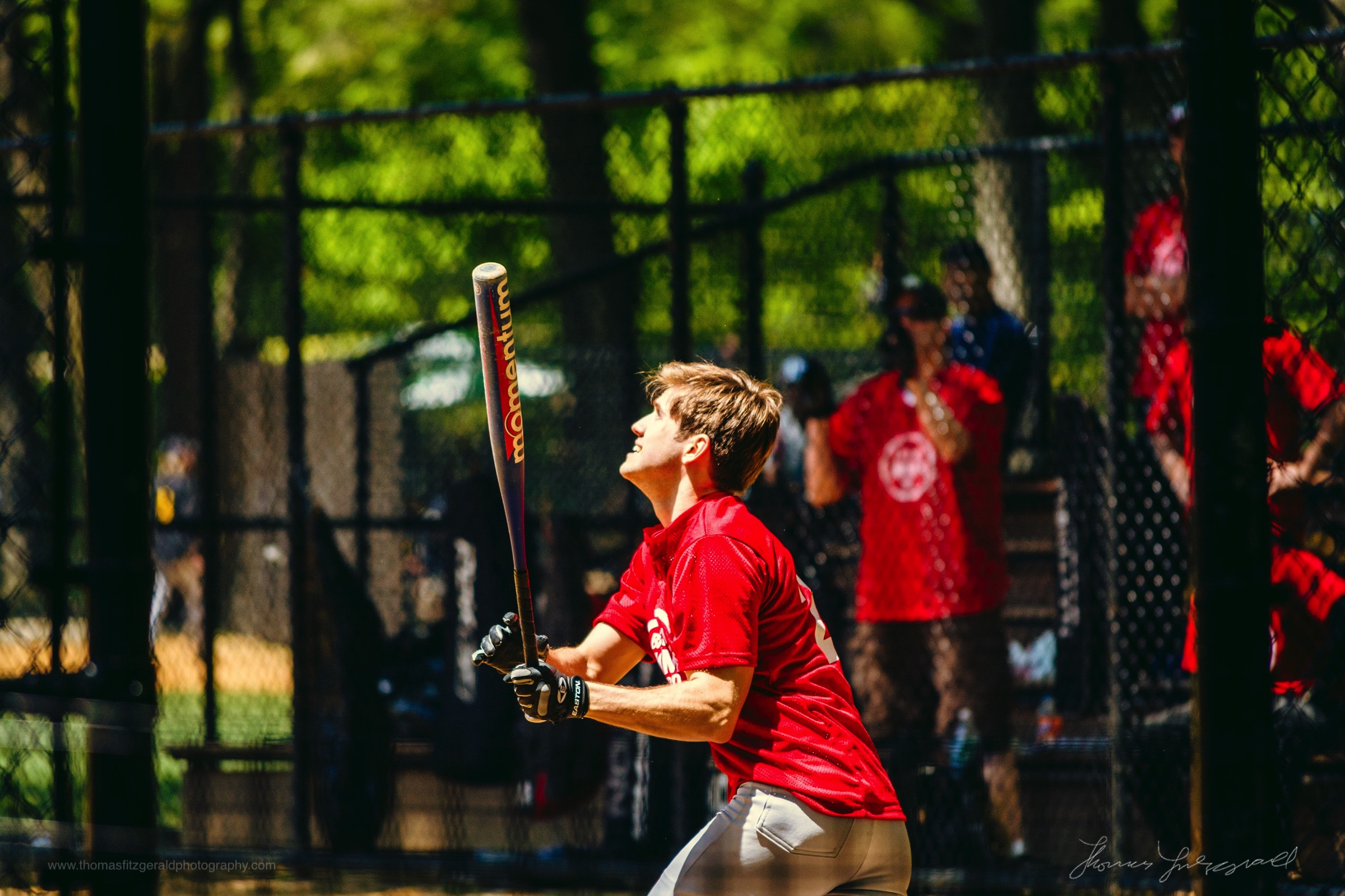 Baseball Player in Central Park