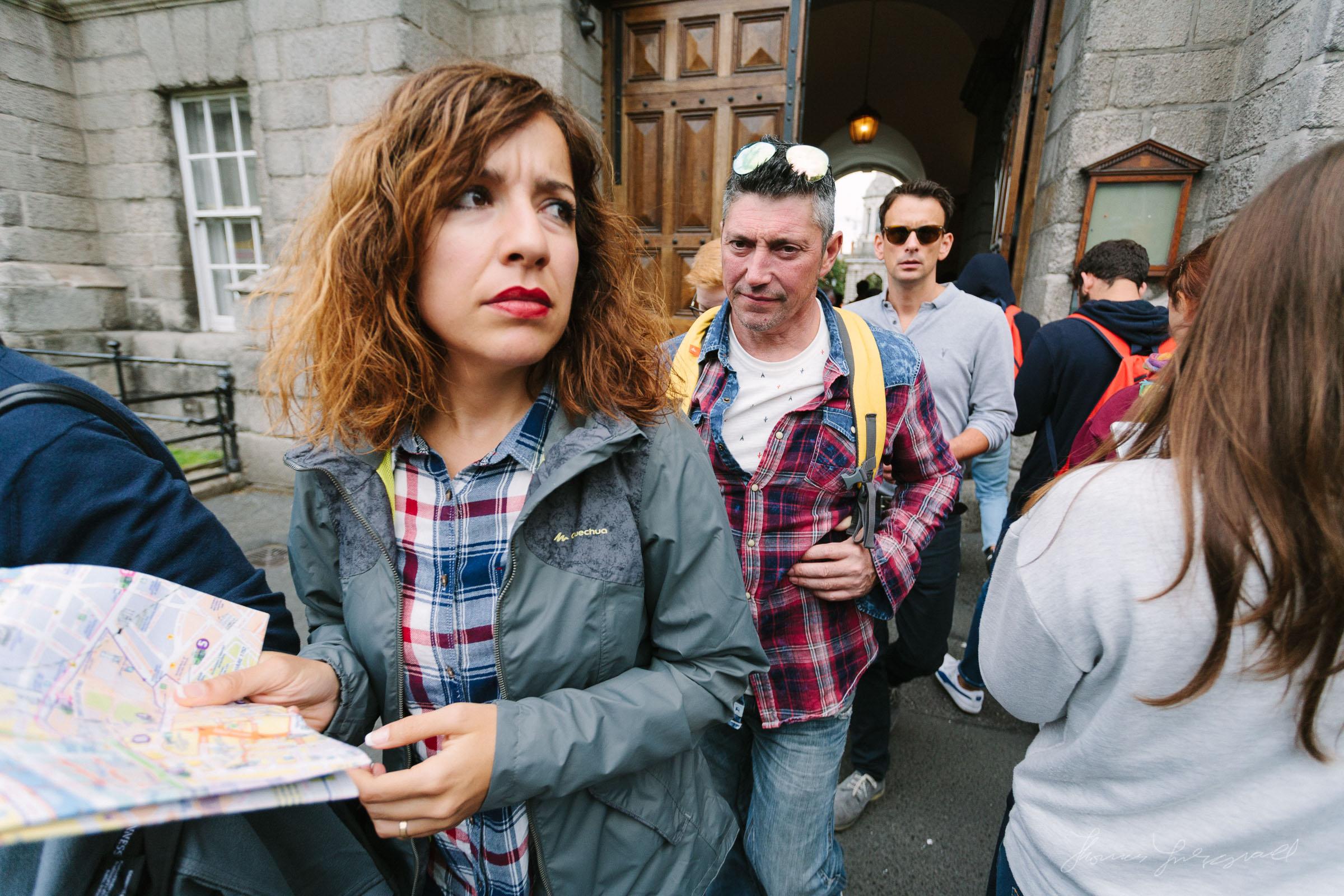 Crowds at Trinity College Dublin, Canon 5d, 17-40mm F4L