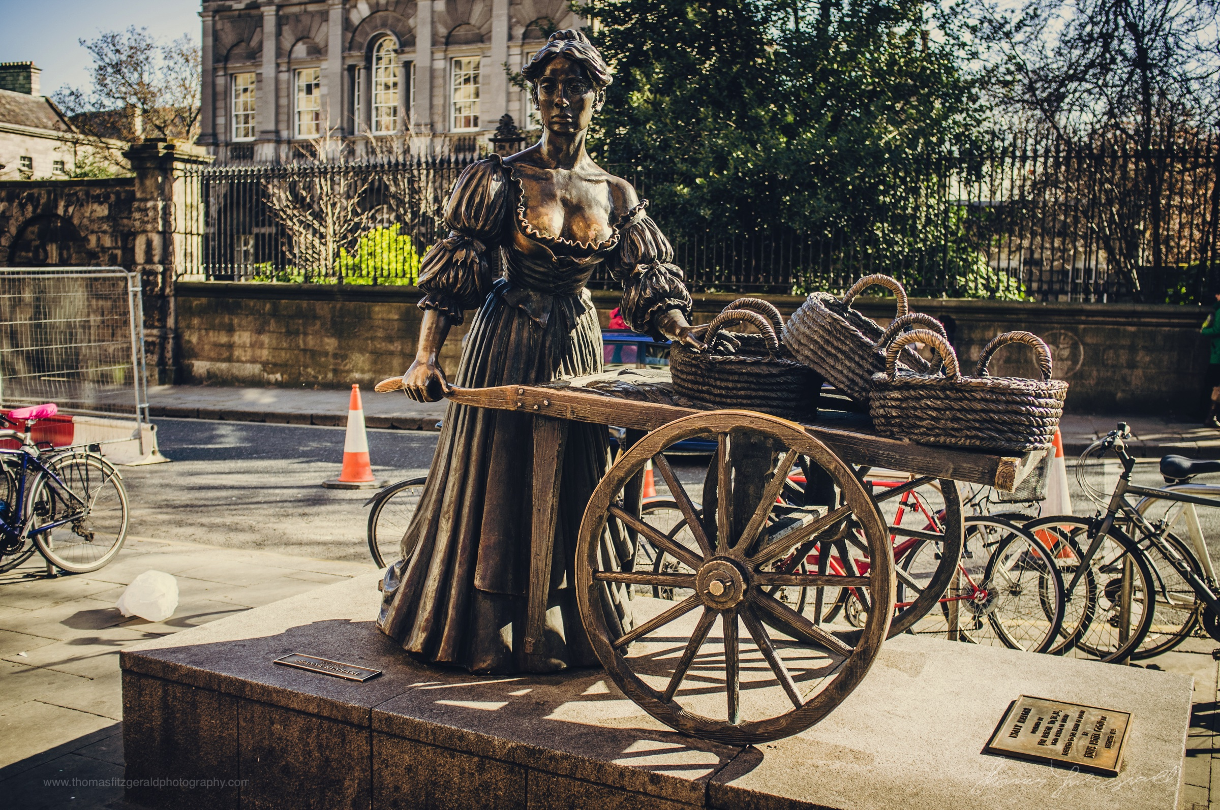 The Molly Malone Statue (Which is being moved while the Luas works are going on)