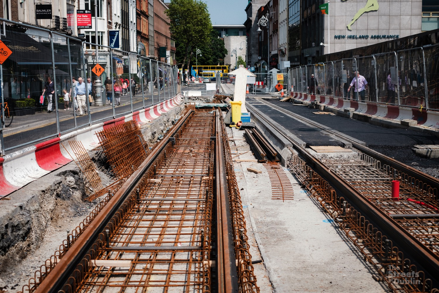 Track laying for Luas Cross City