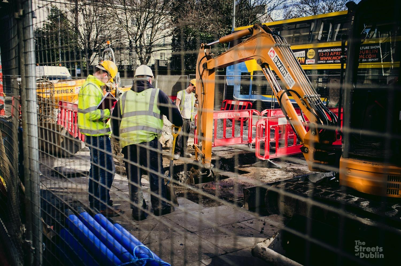 Luas Cross City Construction Work