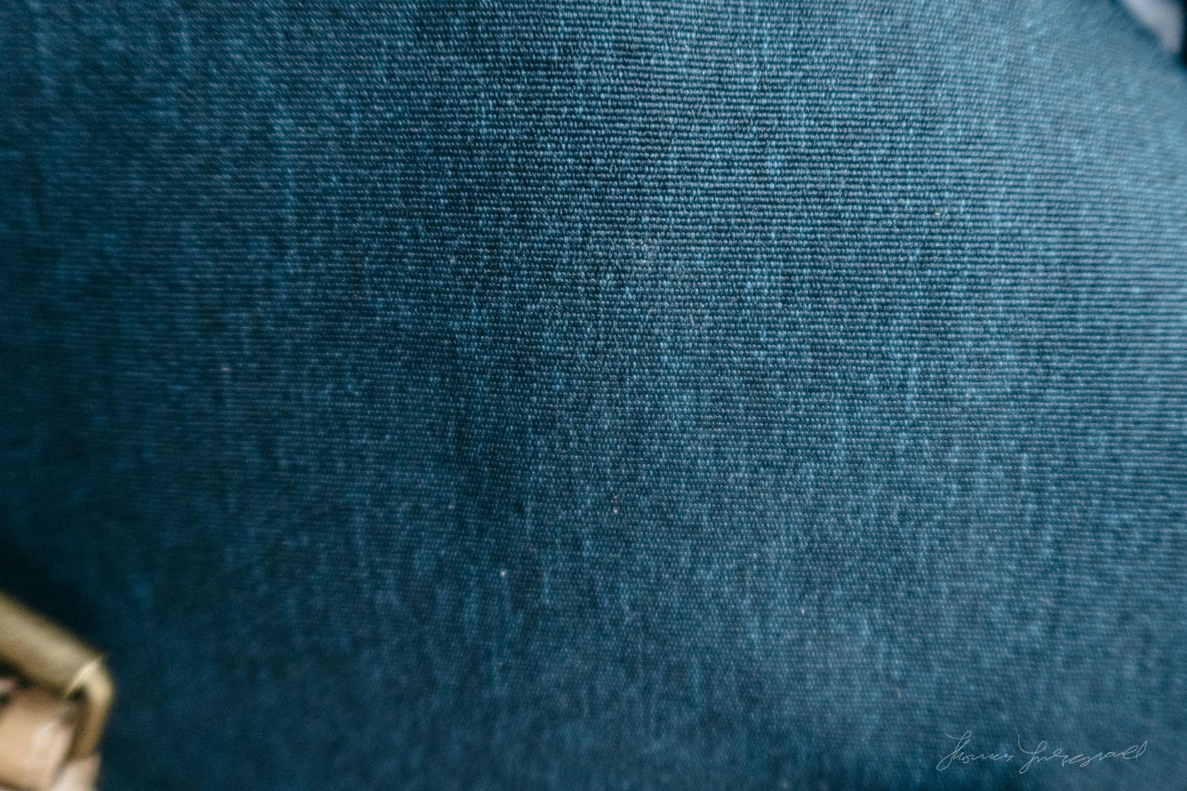 The bag's material in macro detail