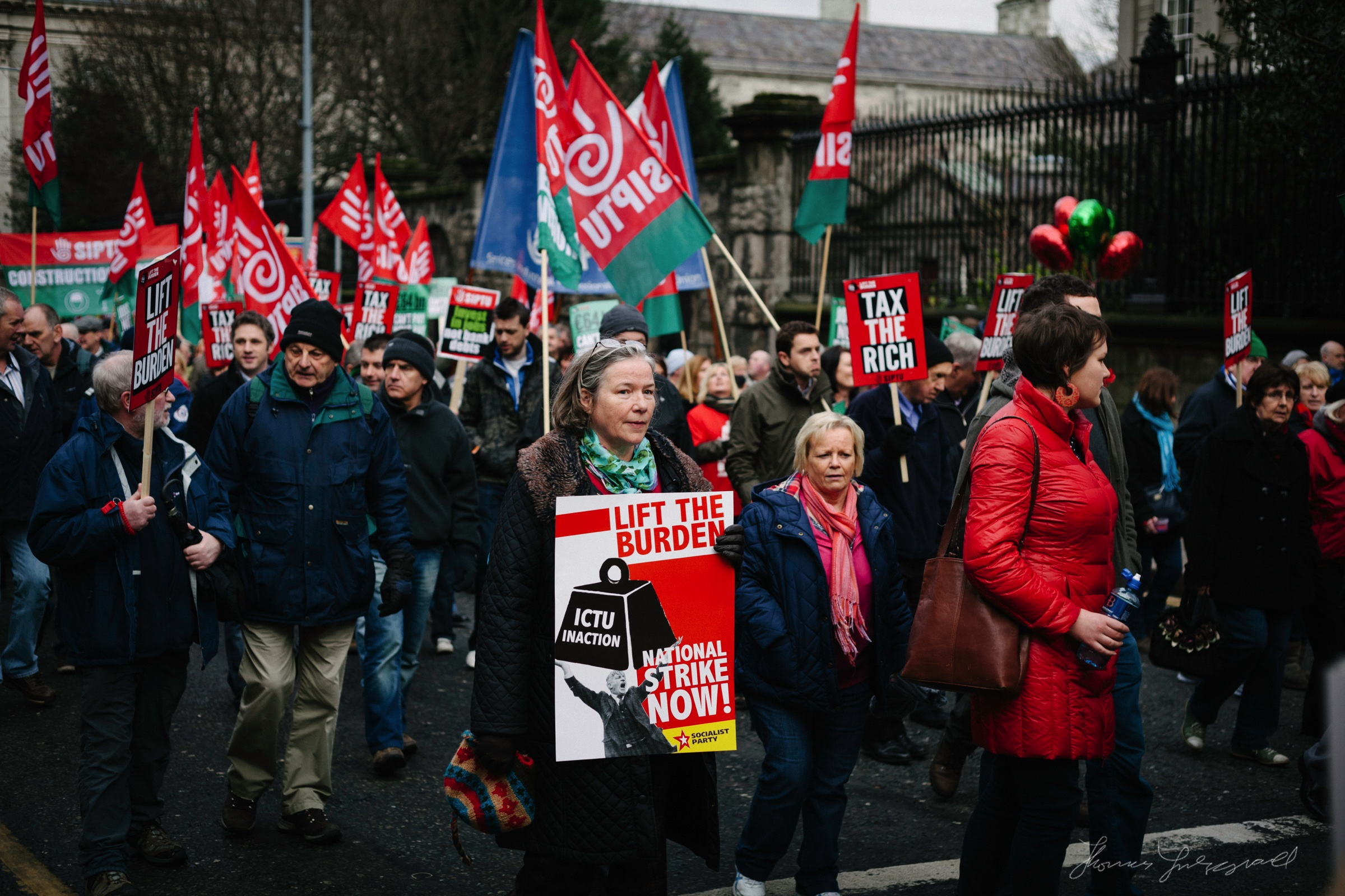 Protesters in Dublin
