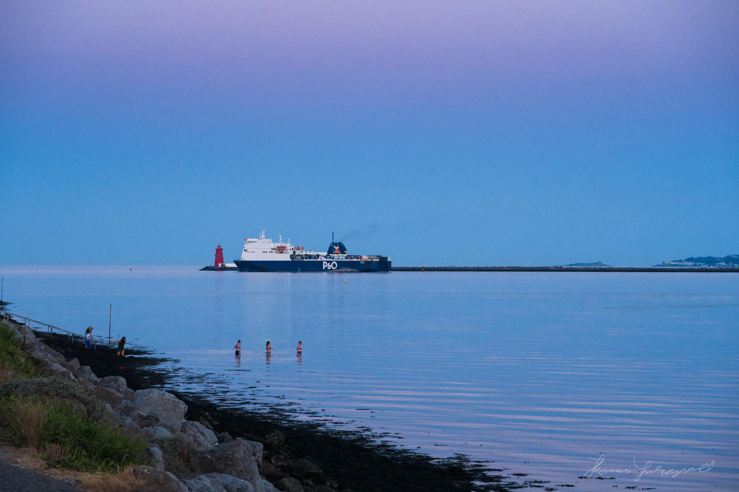 P&O Ferry leaving Dublin Port