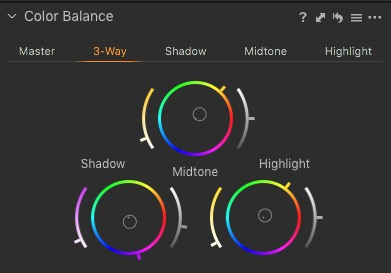 Capture One's Three Way Colour Corrector