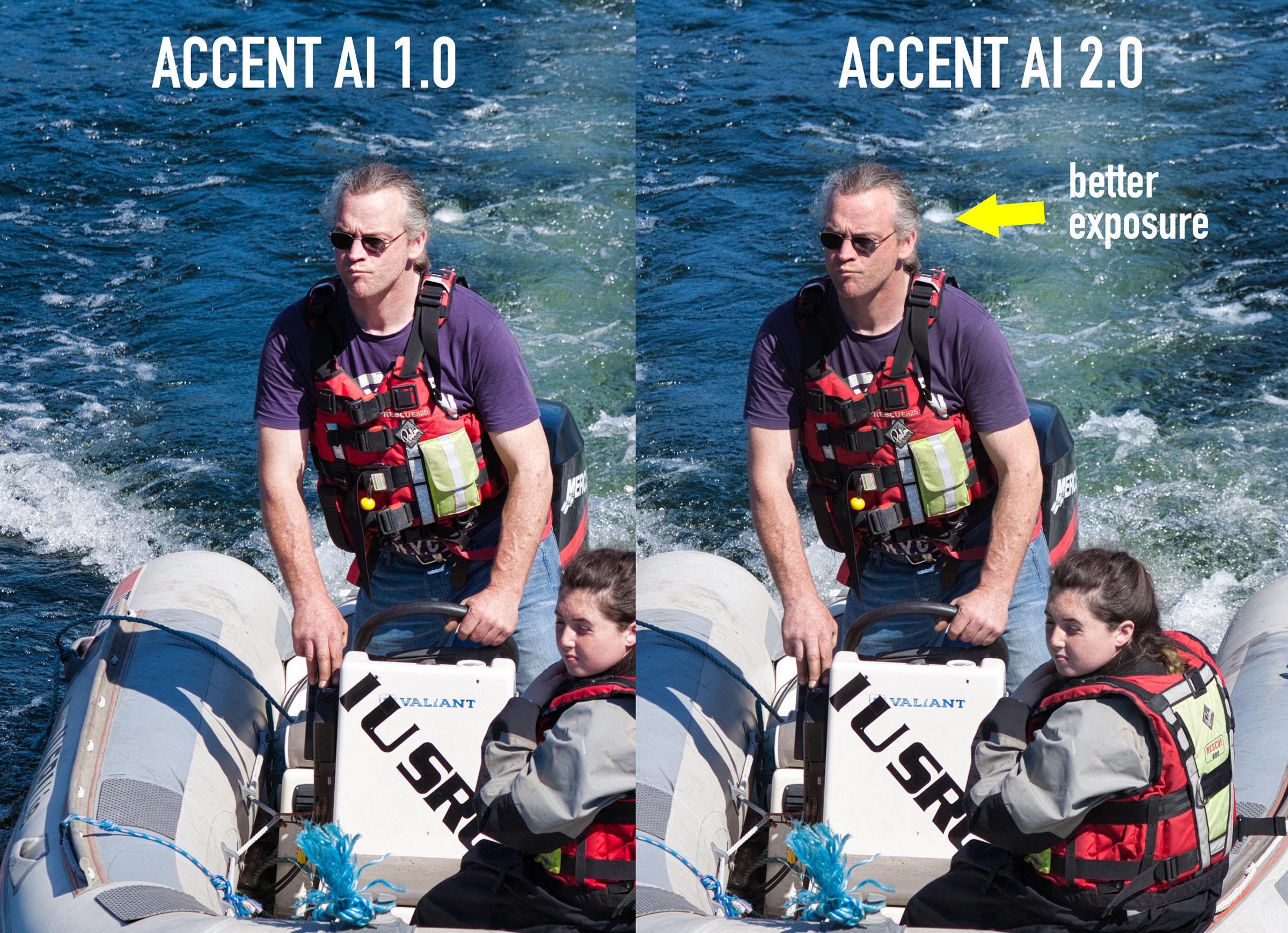 Accent AI 1.0 vs Accent AI 2.0 in Luminar 3.1