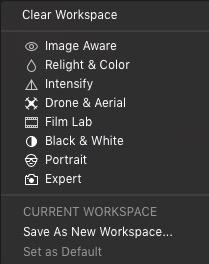 Luminar FLEX Workspaces