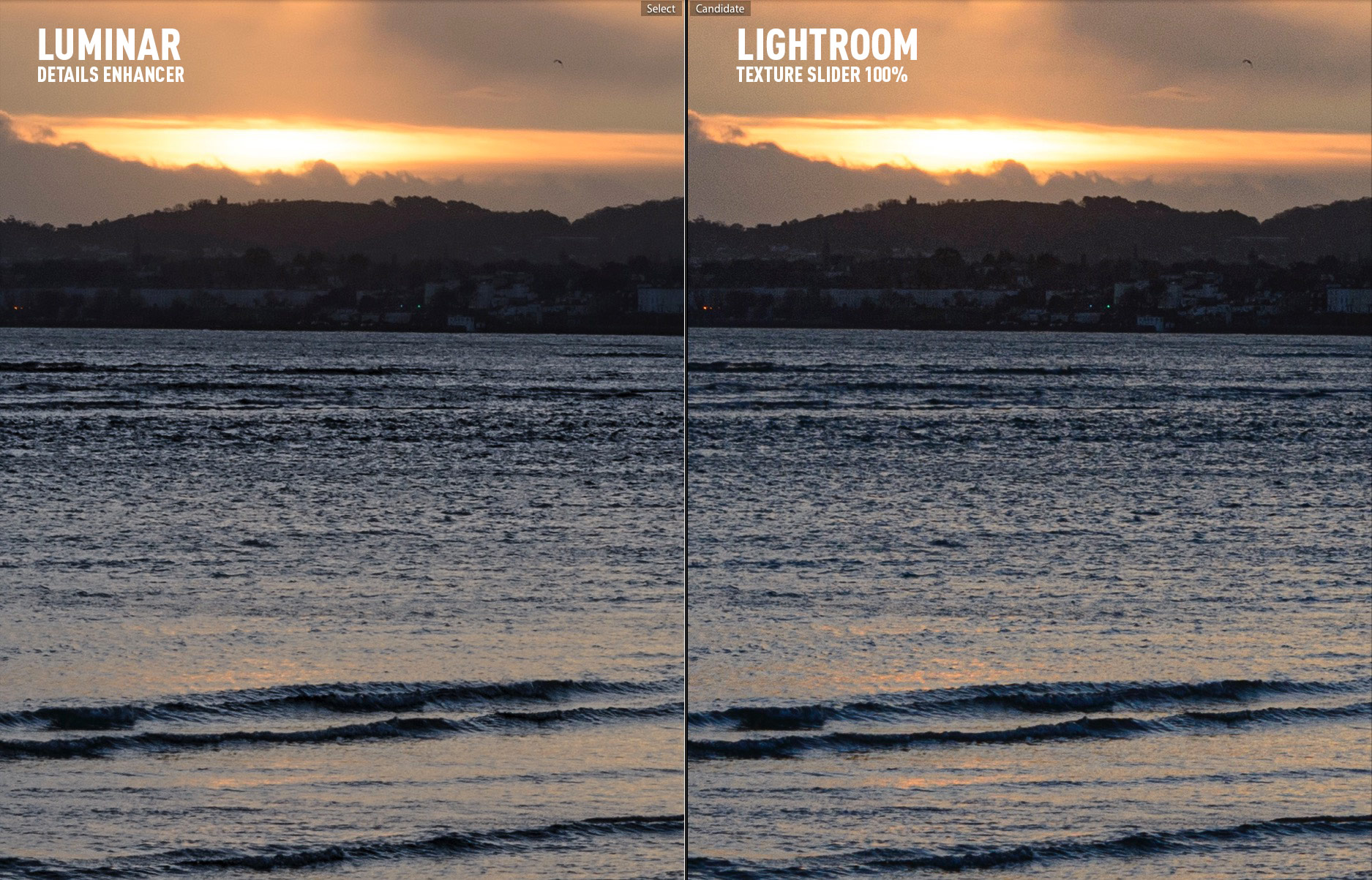 Luminar Details Enhancer vs Lightroom Texture
