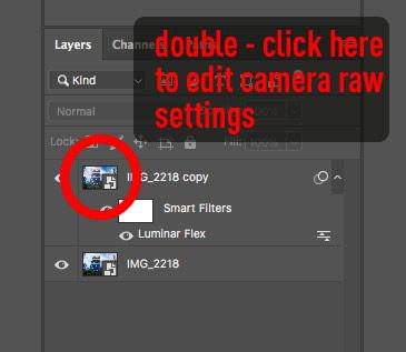 Photoshop smart object - re edit camera raw settings