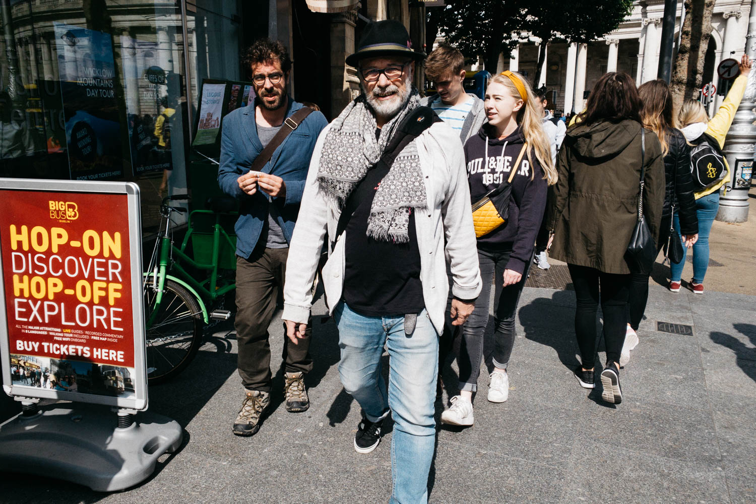 People walking in Dublin City - Street Photograpy on an iPhone X