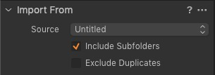 """""""Import From"""" Capture One Import Window"""